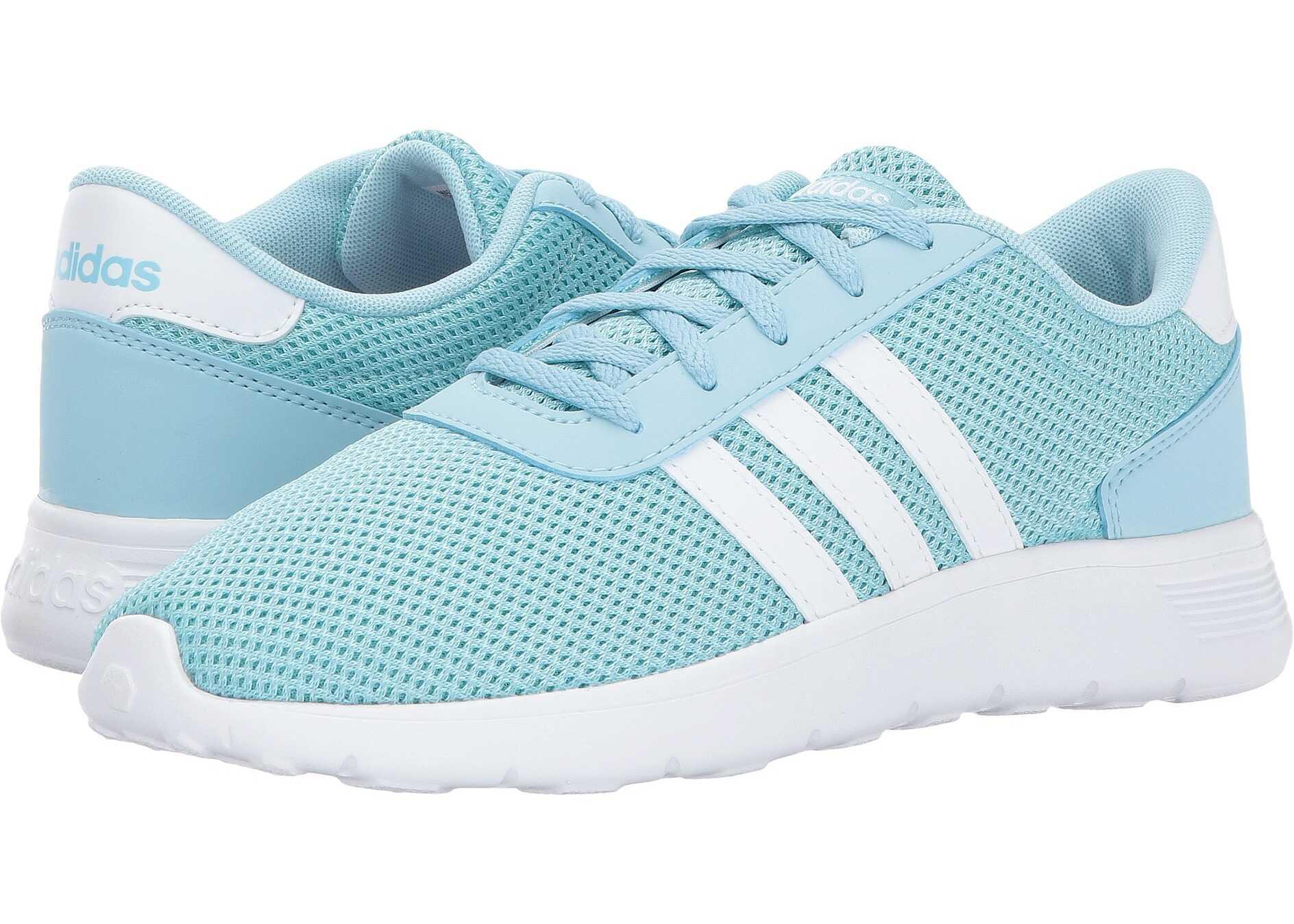 adidas Kids Lite Racer (Little Kid/Big Kid) Icy Blue/Footwear White/Energy Aqua