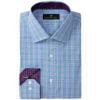 Camasi Elegante Long Sleeve Regular Fit Glenn Plaid Dress Shirt* Barbati