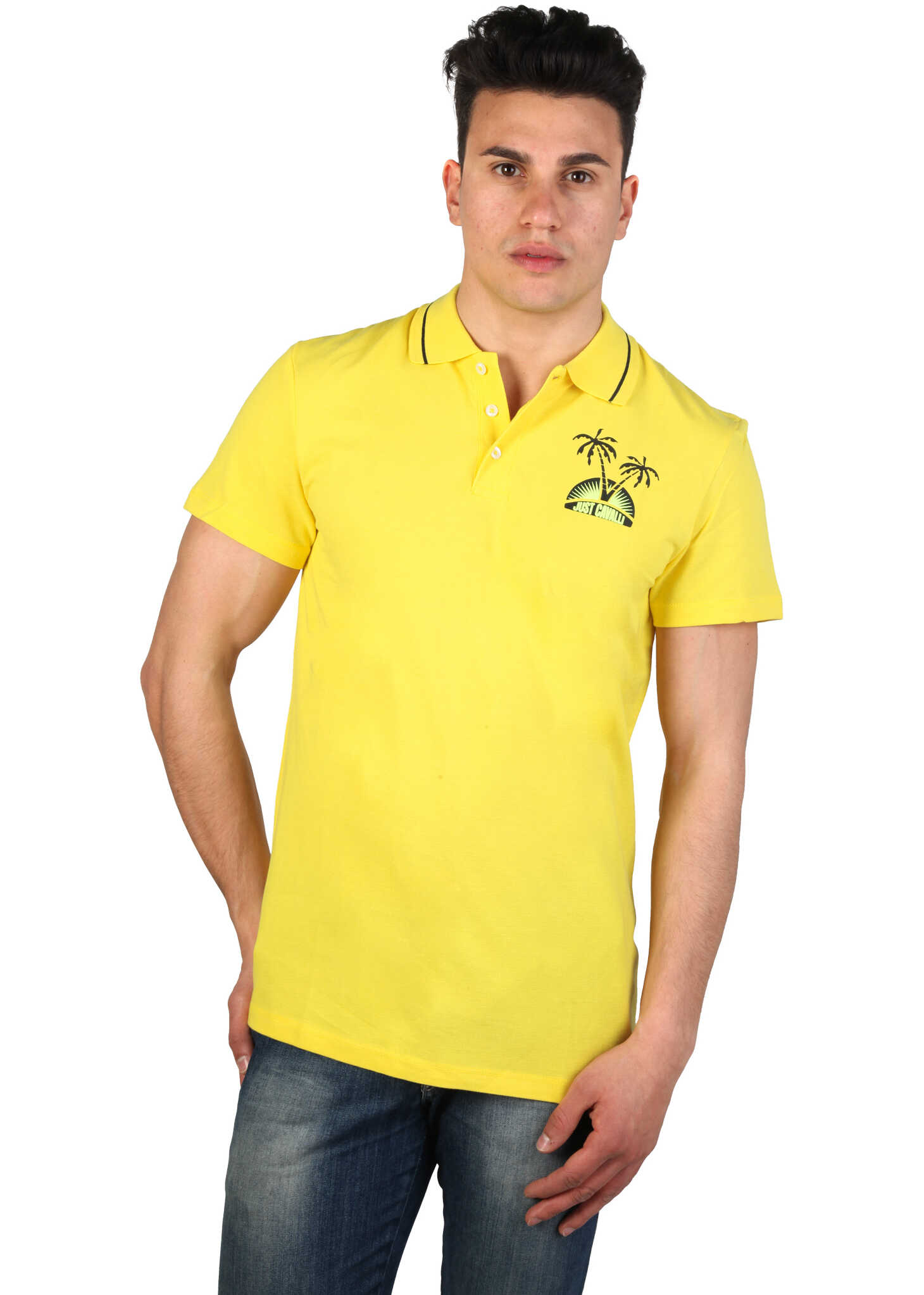 Tricou Polo Barbati Just Cavalli 15grmcf47 Yellow