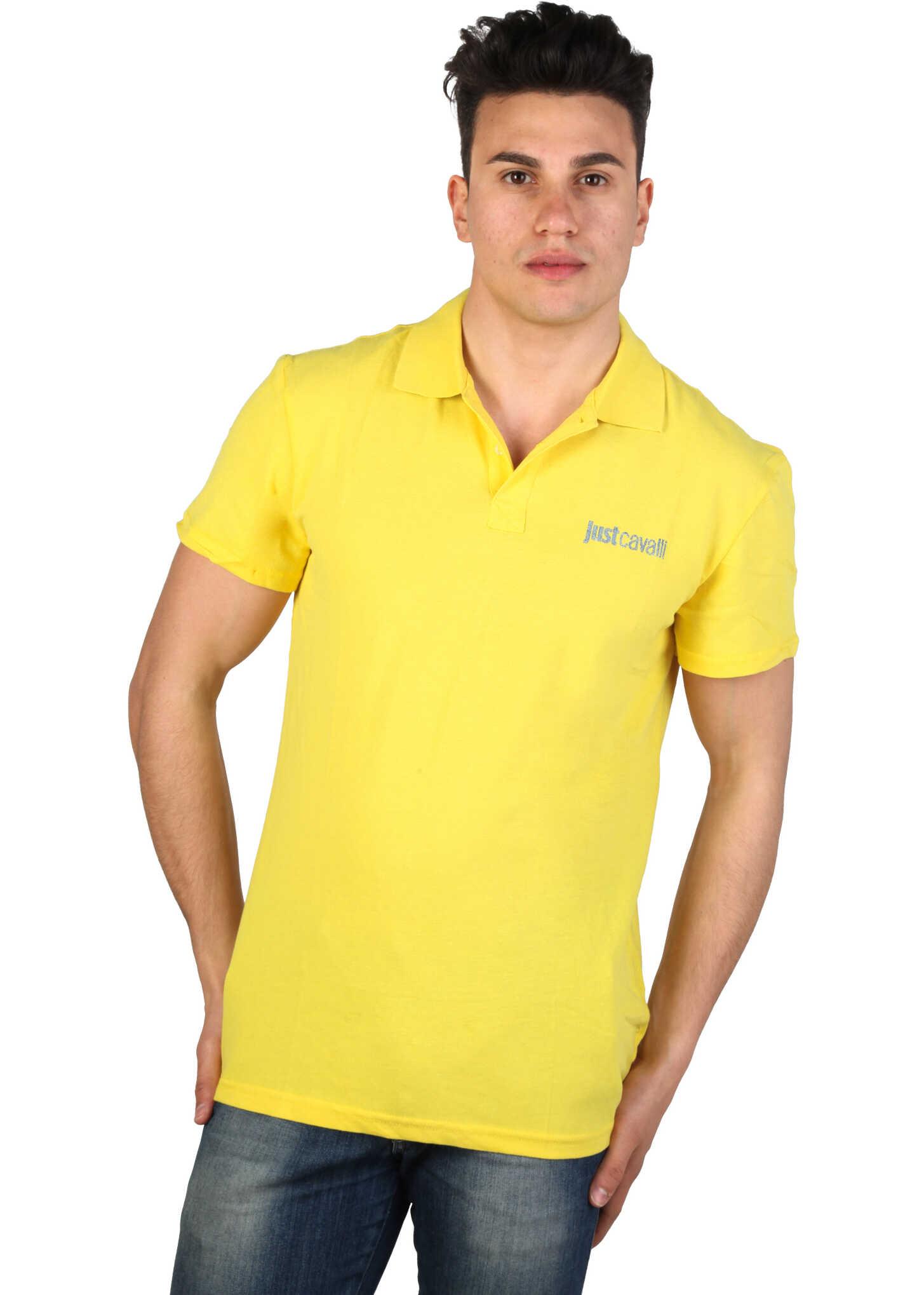 Tricou Polo Barbati Just Cavalli 15grmcb47 Yellow