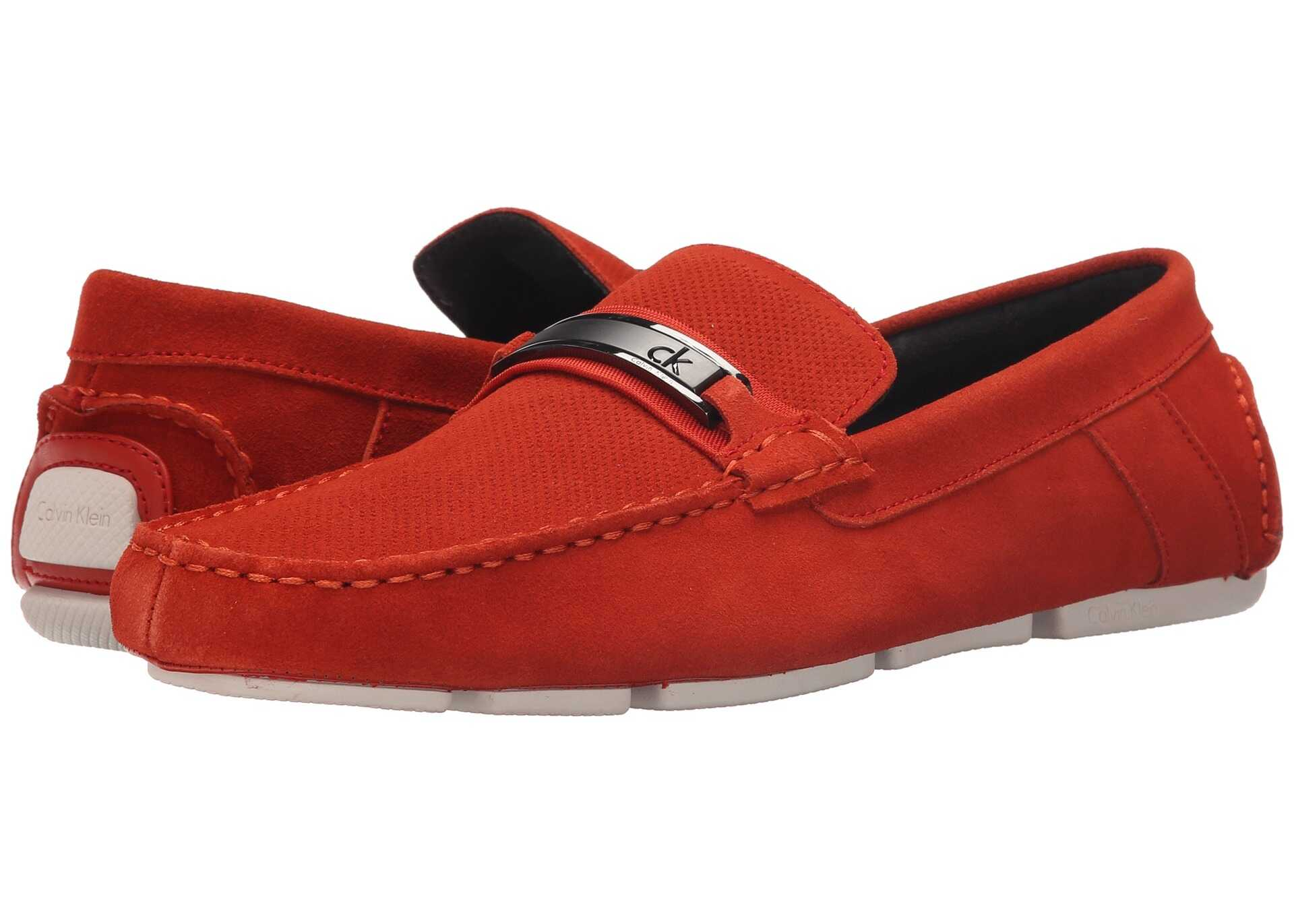Calvin Klein Marcell* Red/orange Perf Suede