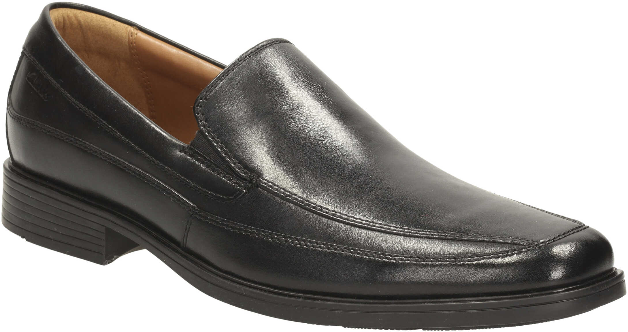 Clarks Tilden Free* Black Leather
