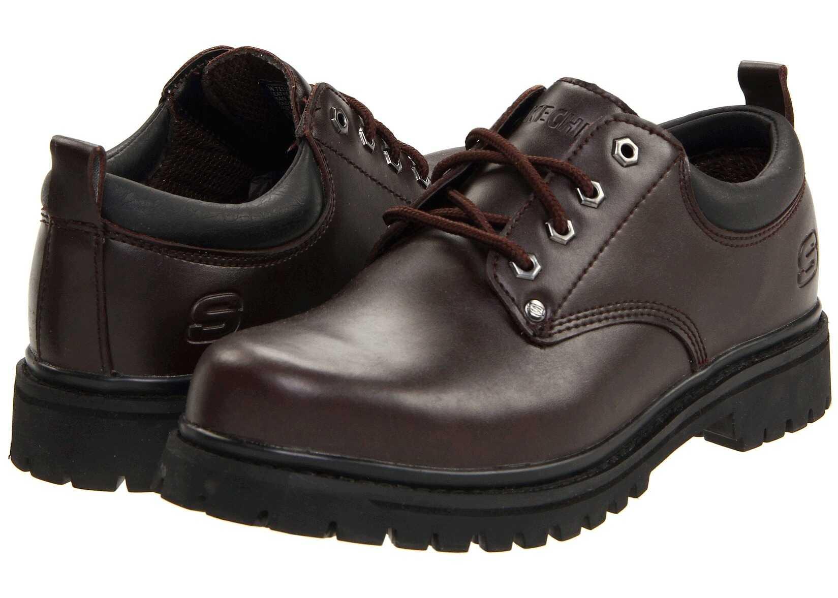 Pantofi Barbati Skechers Alley Cats Dark Brown
