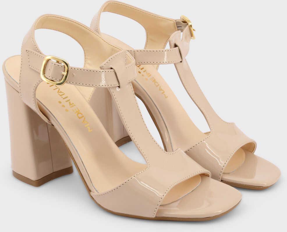 preturi ieftine reducere mare intreaga colectie Sandale cu toc Made in Italia Arianna BROWN Femei - Boutique Mall ...