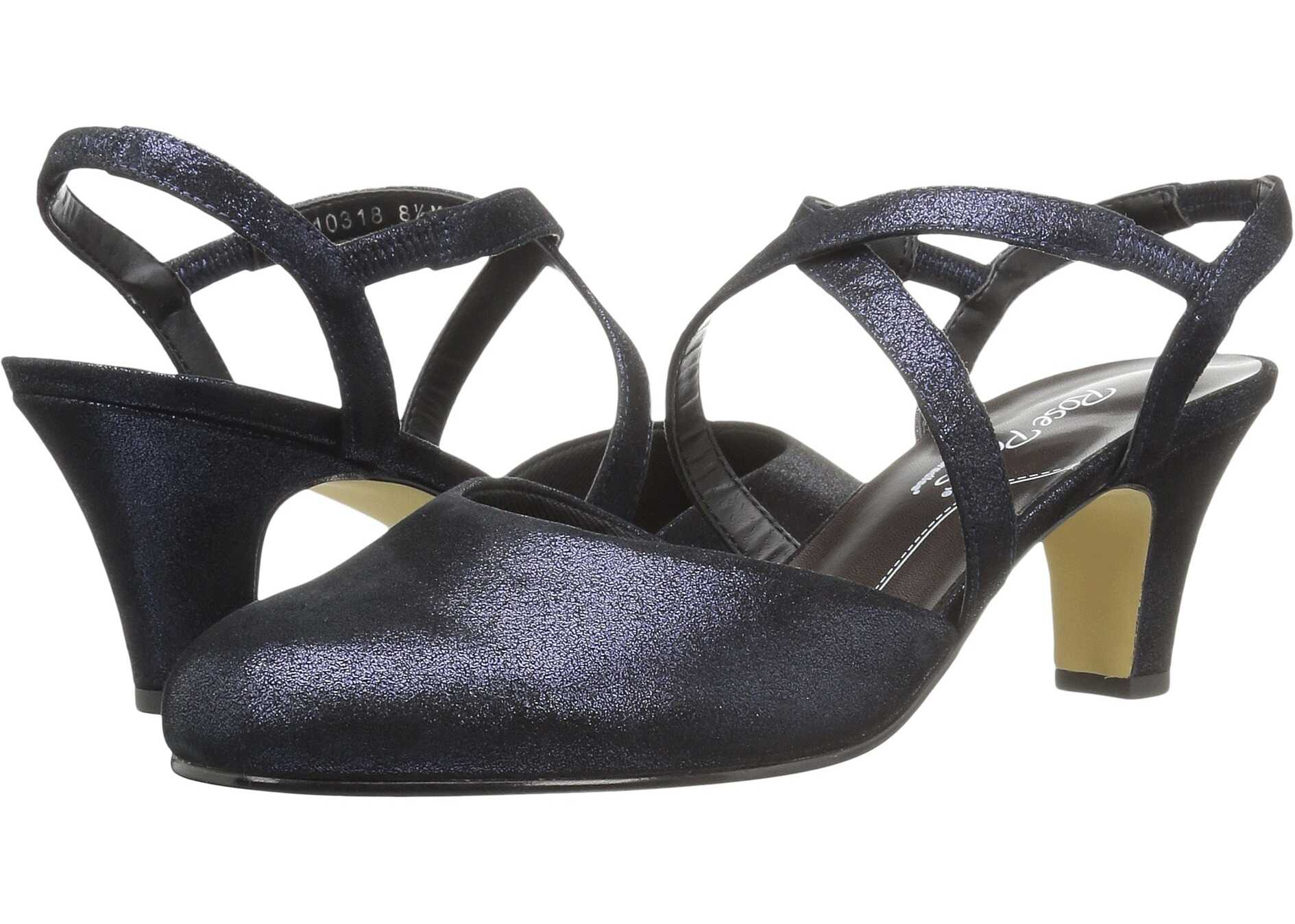 Pantofi Cu Toc Walking Cradles Caliente Navy Shimm