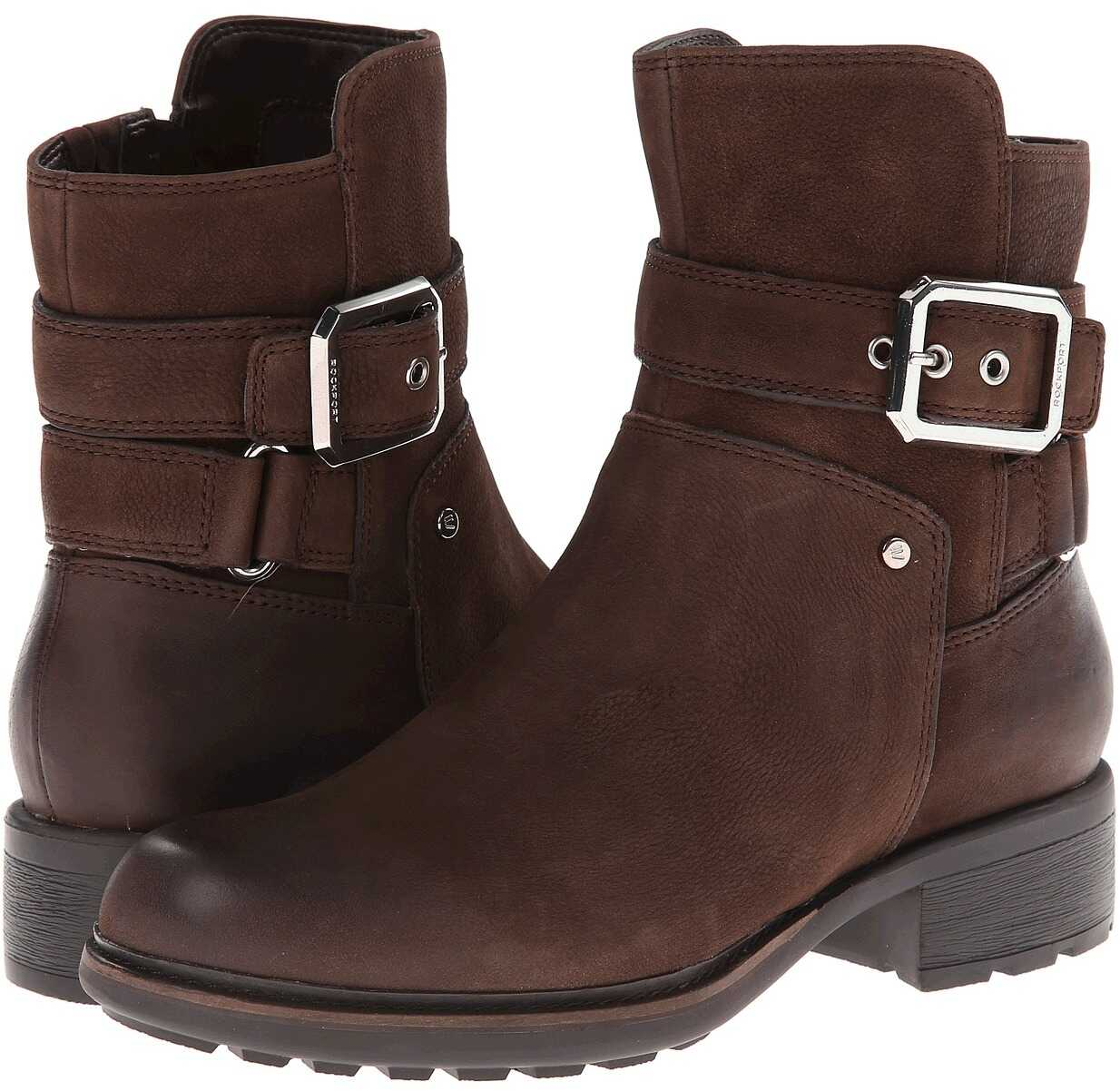 Rockport First Street Moto Strap Bootie - Ankle* Ebano Burnished