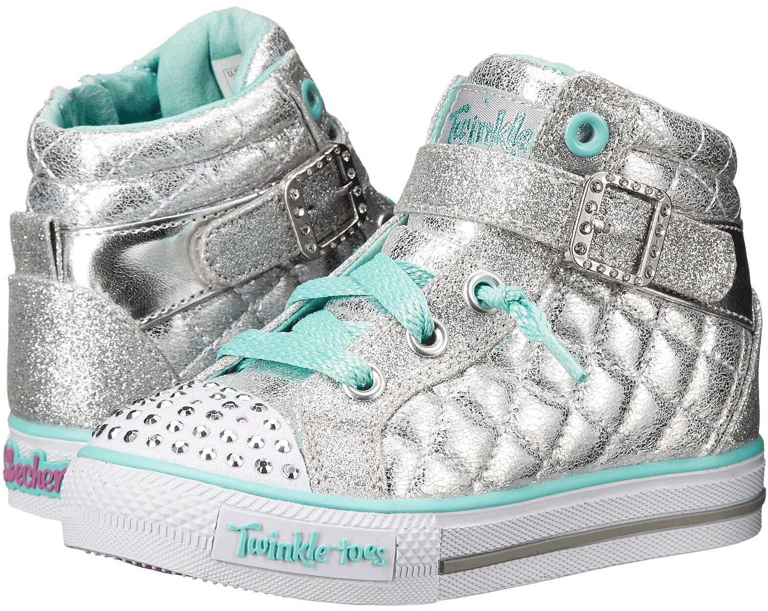 SKECHERS KIDS Twinkle Toes - Shuffles Sweetheart Sole (Infant/Toddler/Little Kid) Silver