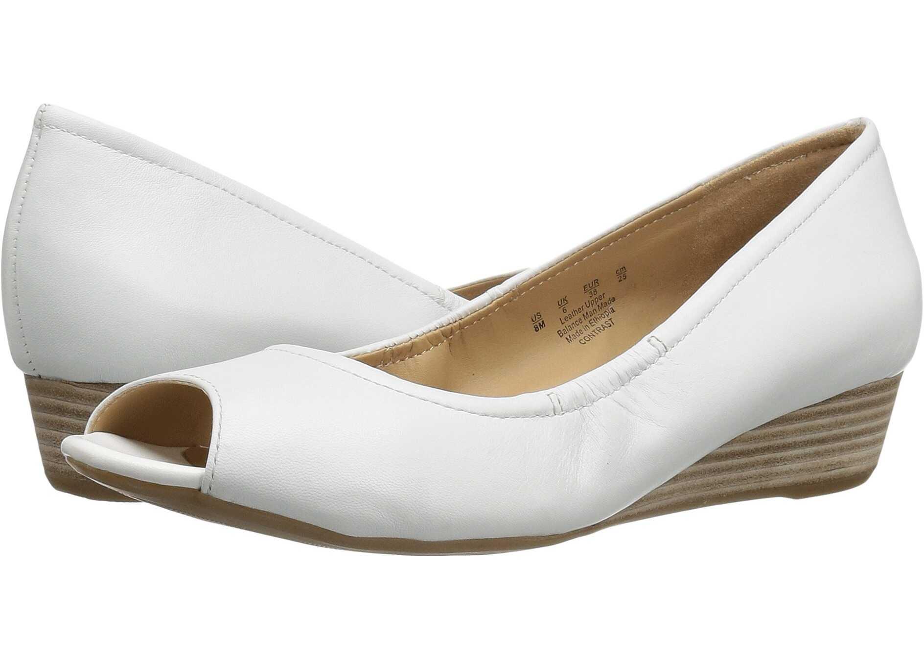 Imagine indisponibila pentru Naturalizer Contrast White Leather