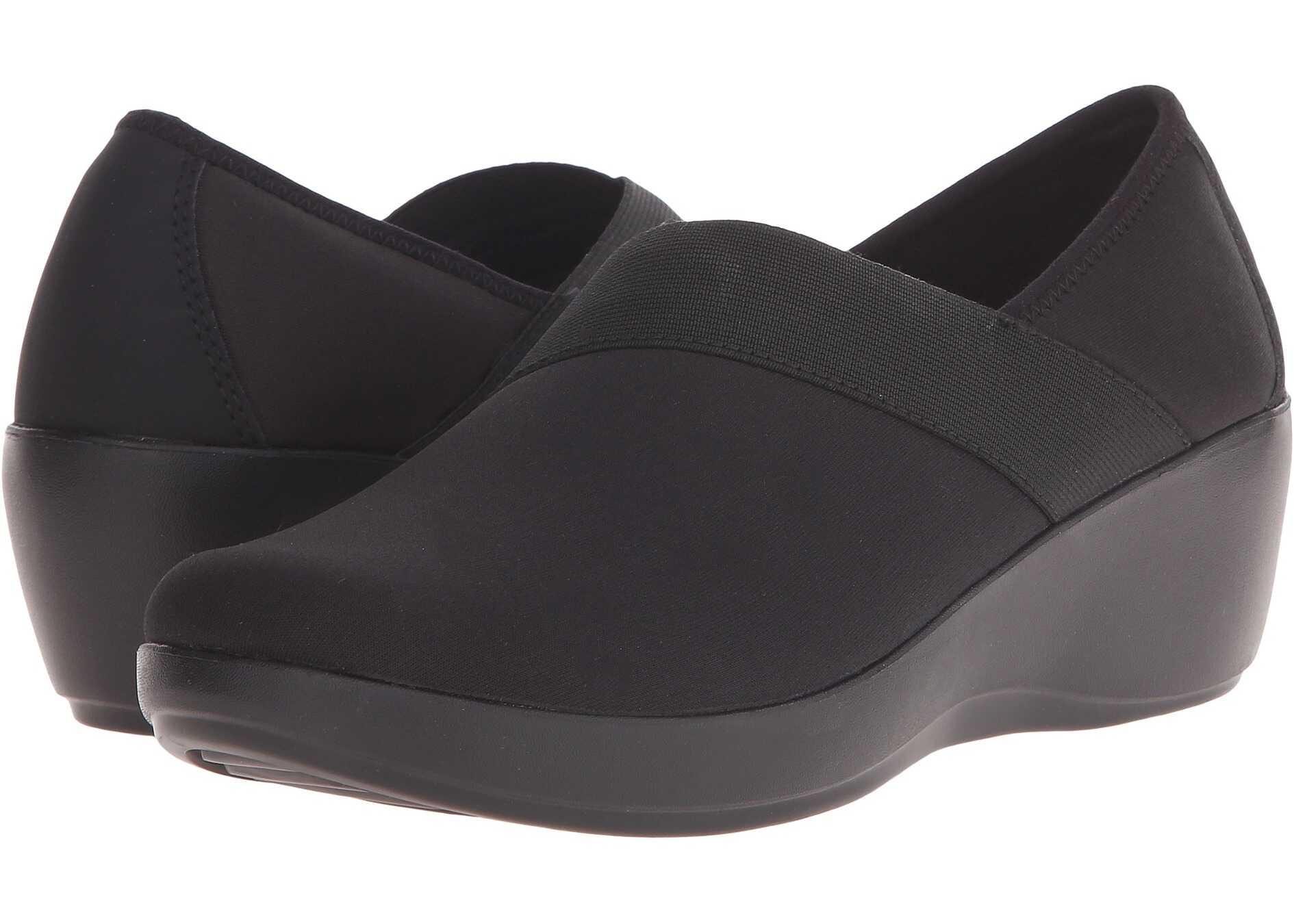 Crocs Busy Day Stretch Asymmetrical Wedge Black/Black