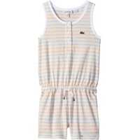 Salopete Whitened Effect Heathered Stripe Romper (Toddler/Little Kids/Big Kids) Fete
