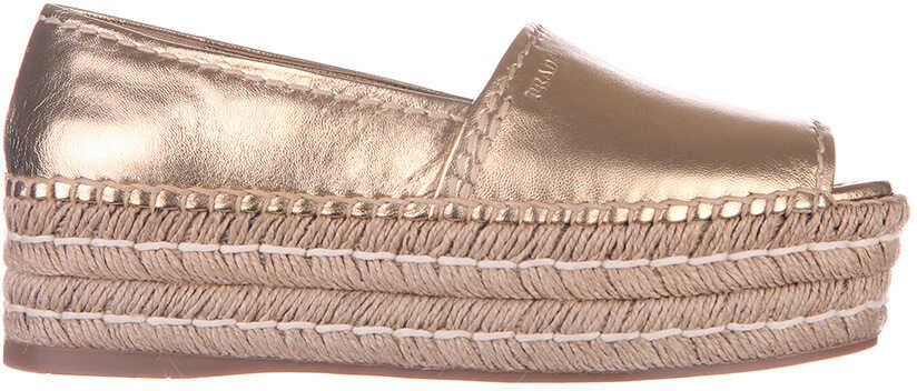 Prada Women's Espadrilles Slip On Shoes New* Gold