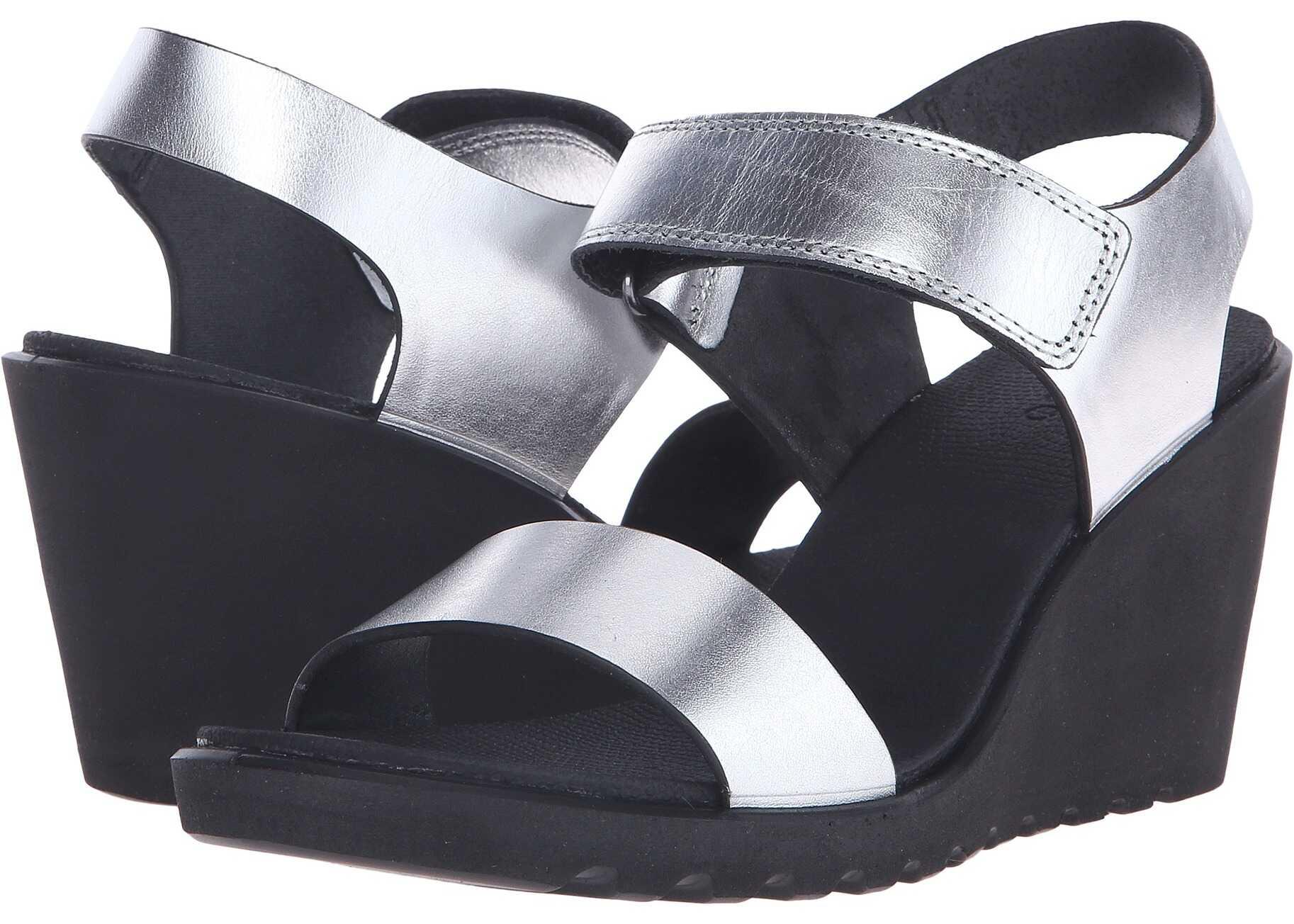 Sandale Femei Ecco Freja Wedge Sandal Silver Metal