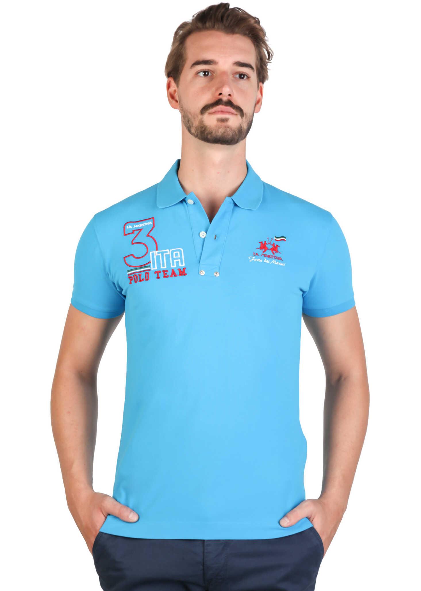 Tricou Polo Barbati La Martina Fmp326pk01 Blue