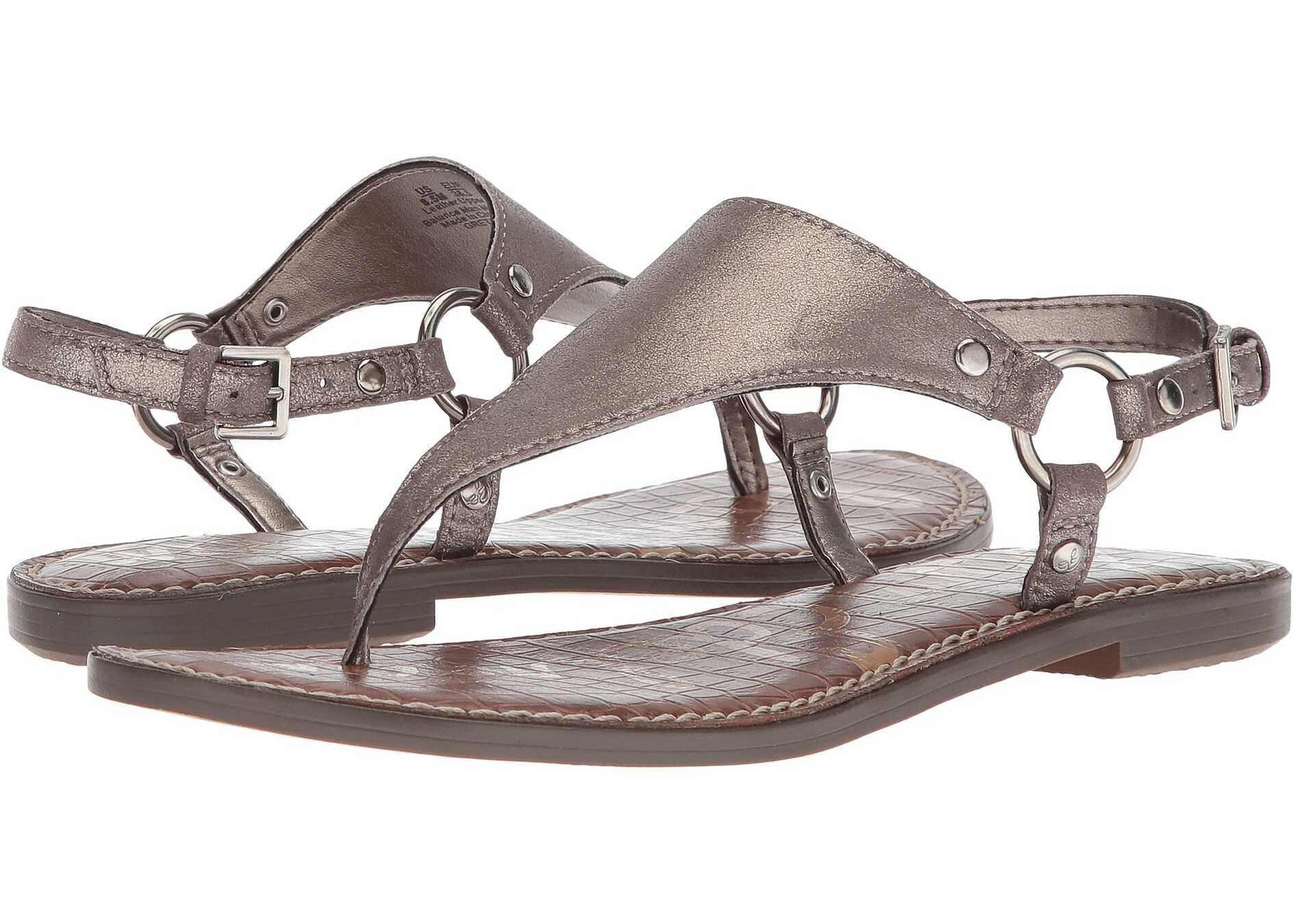 Sam Edelman Greta Pewter Dreamy Metallic Leather