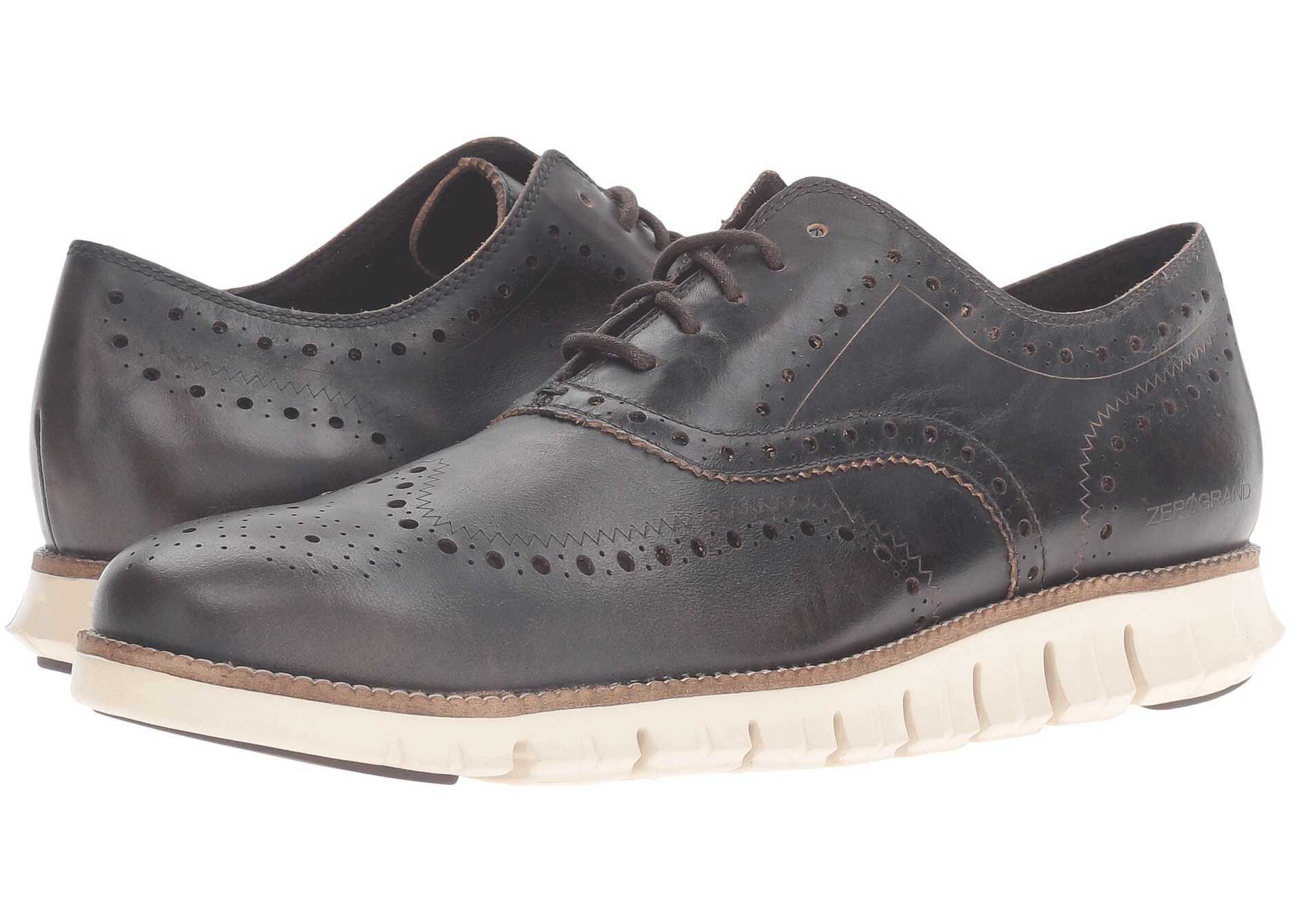 Cole Haan Zerogrand Wing Oxford Java Leather/Ivory