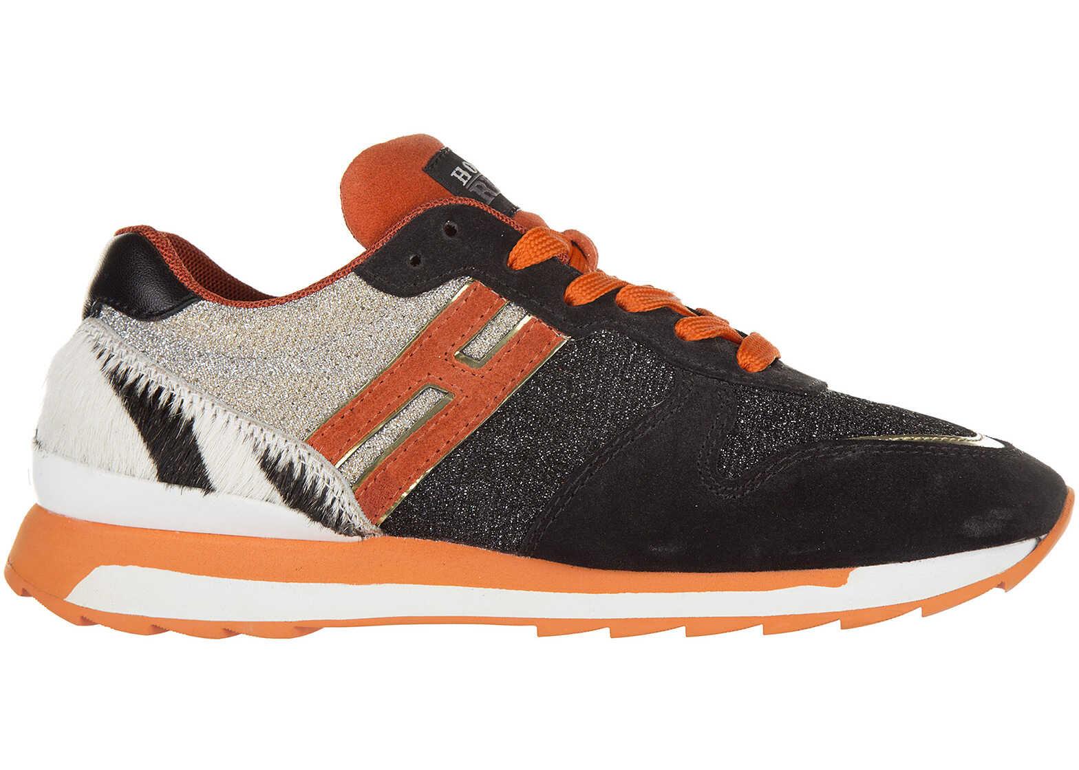 Pantofi Sport Femei Hogan Rebel R261 Allacciato Bl