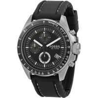 Ceasuri Fashion Men's Decker CH2573 Black Silicone Analog Quartz Watch Barbati