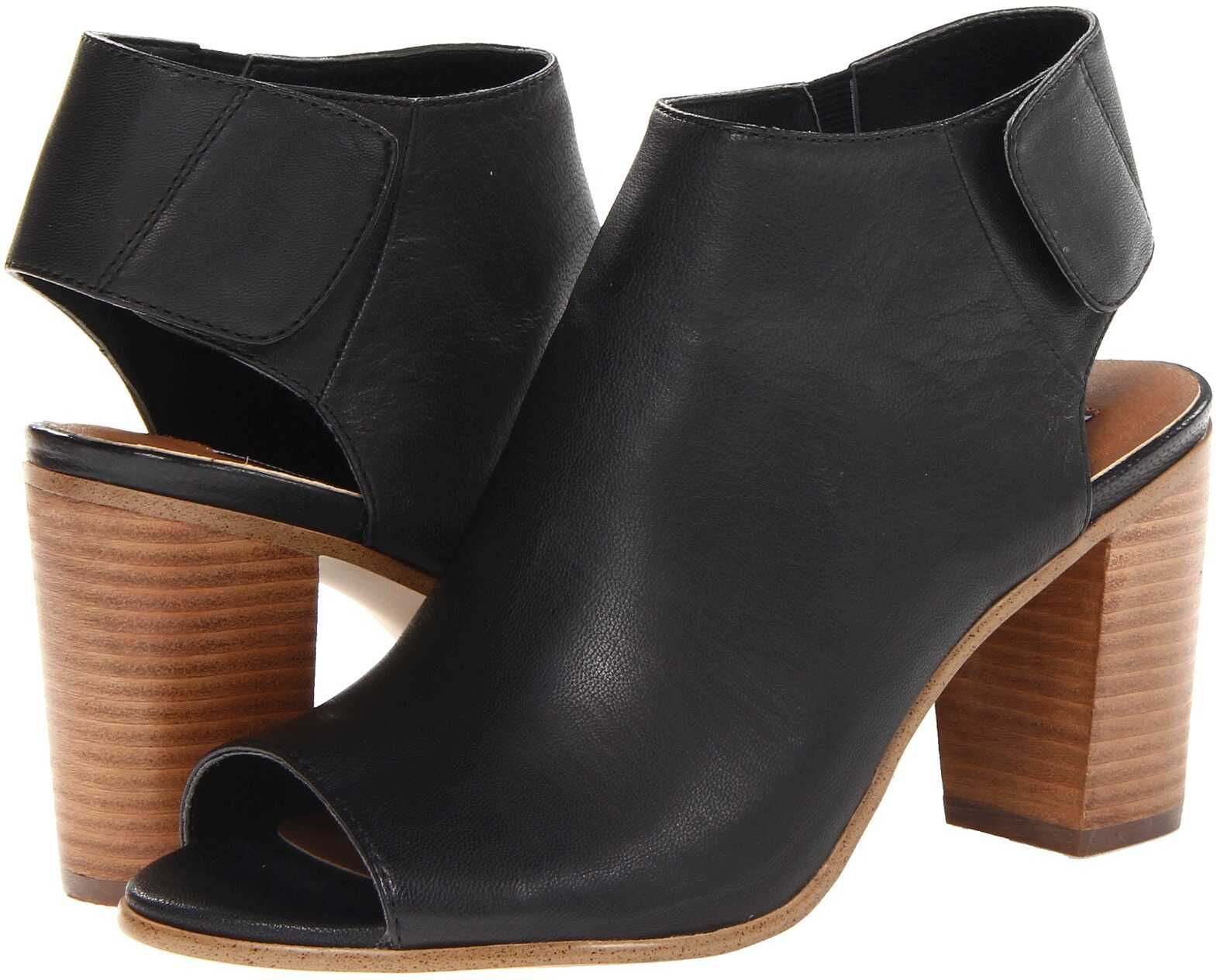 Steve Madden Nonstp Heel Black Leather
