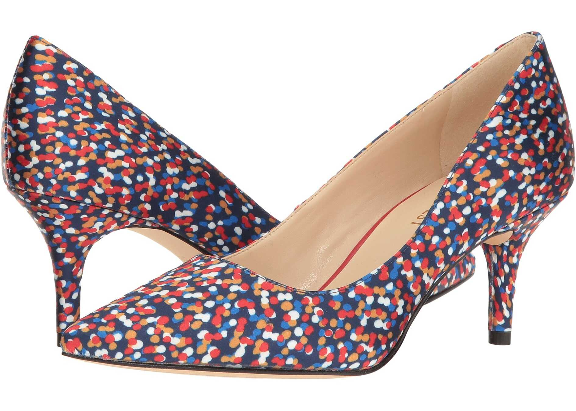 Pantofi Cu Toc Nine West Margot Navy Multi Satin