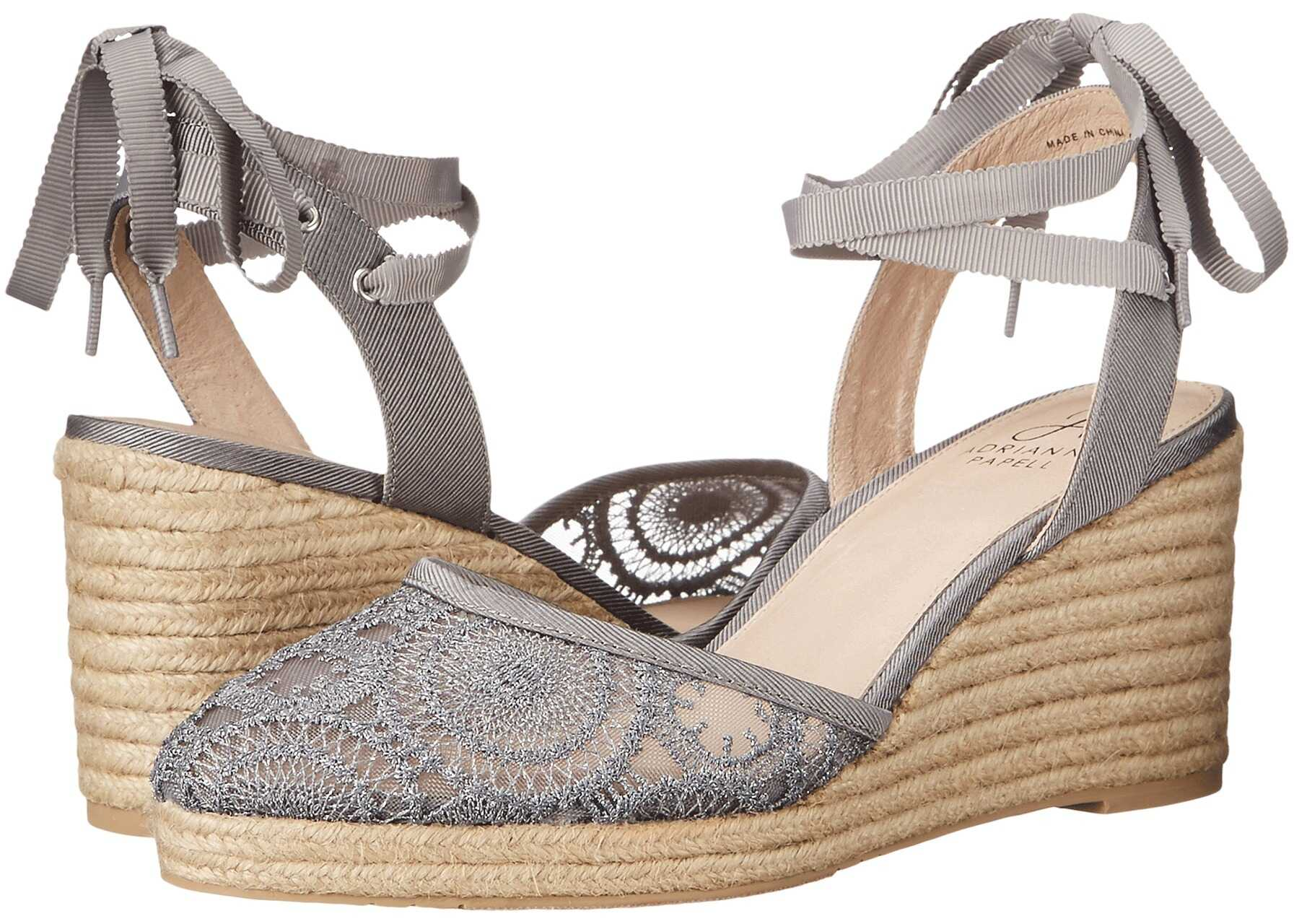 Adrianna Papell Penny Pewter Barcelona Lace