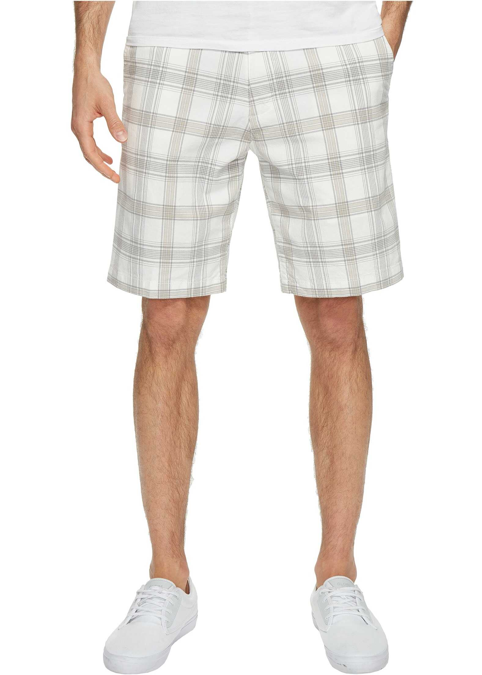 Dockers Perfect Short Classic Fit Flat Front White Plaid