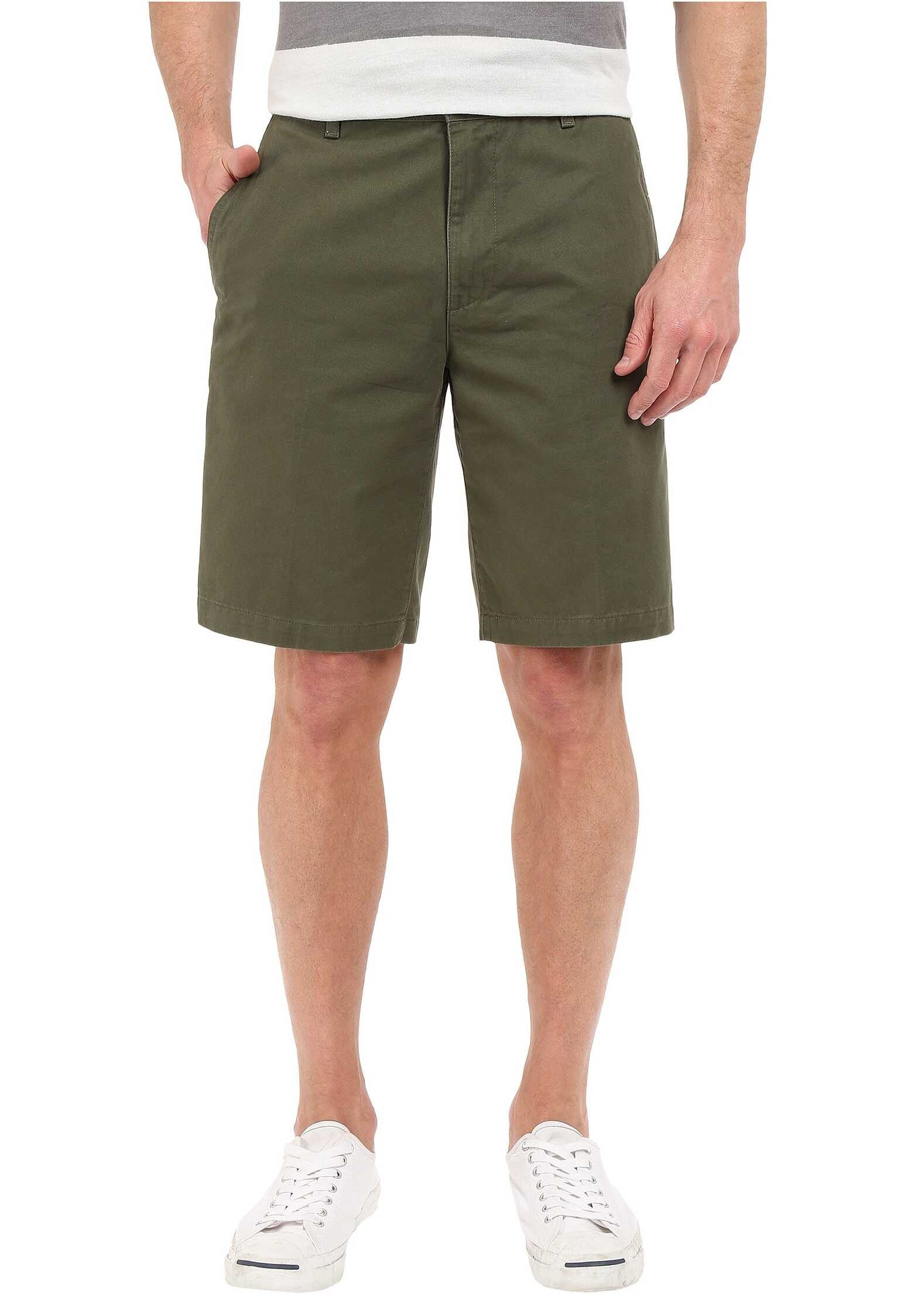 Dockers Perfect Short Classic Fit Flat Front Dockers Olive Stretch