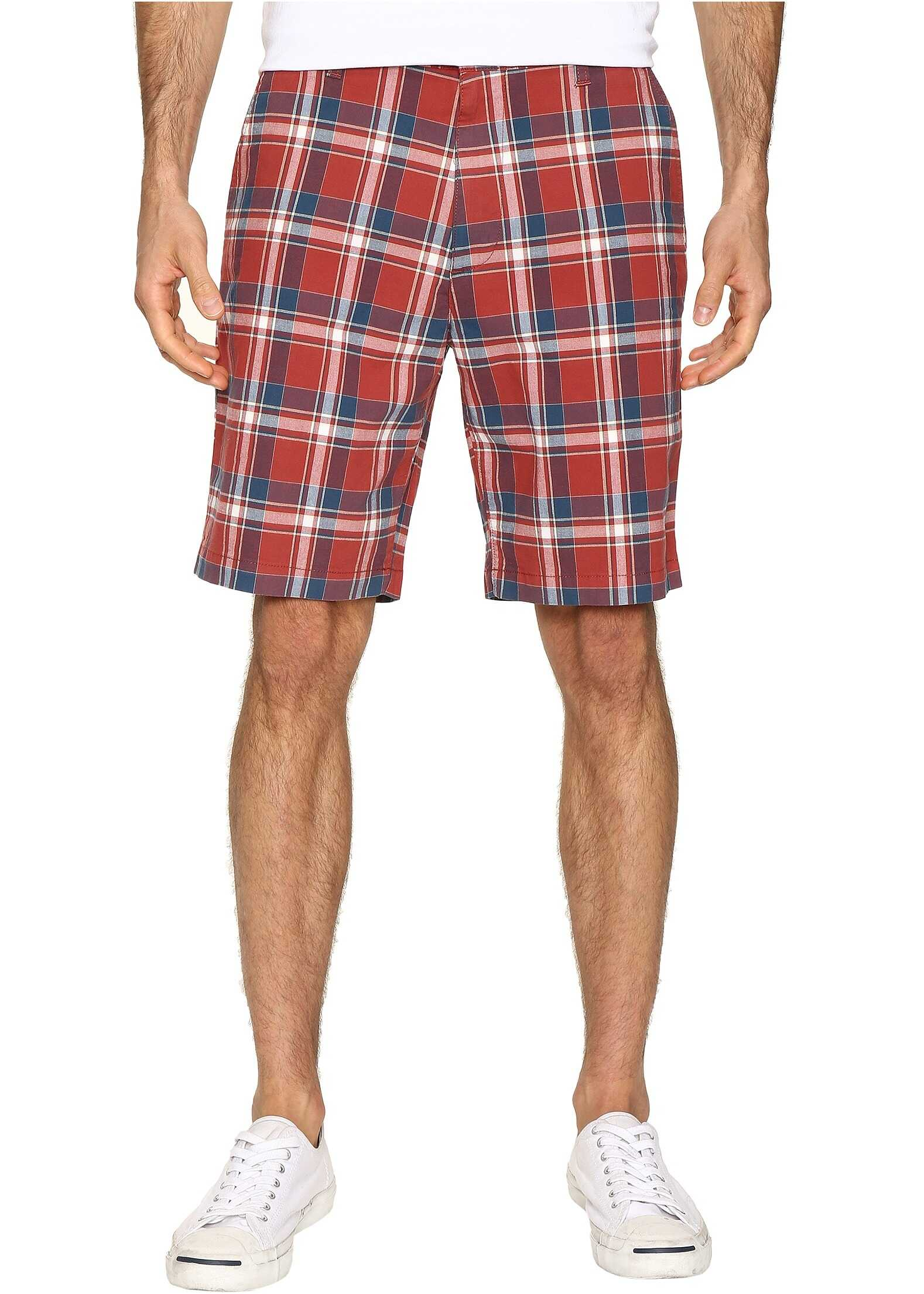 Dockers Perfect Short Classic Fit Flat Front Palmer Red Paint Stretch