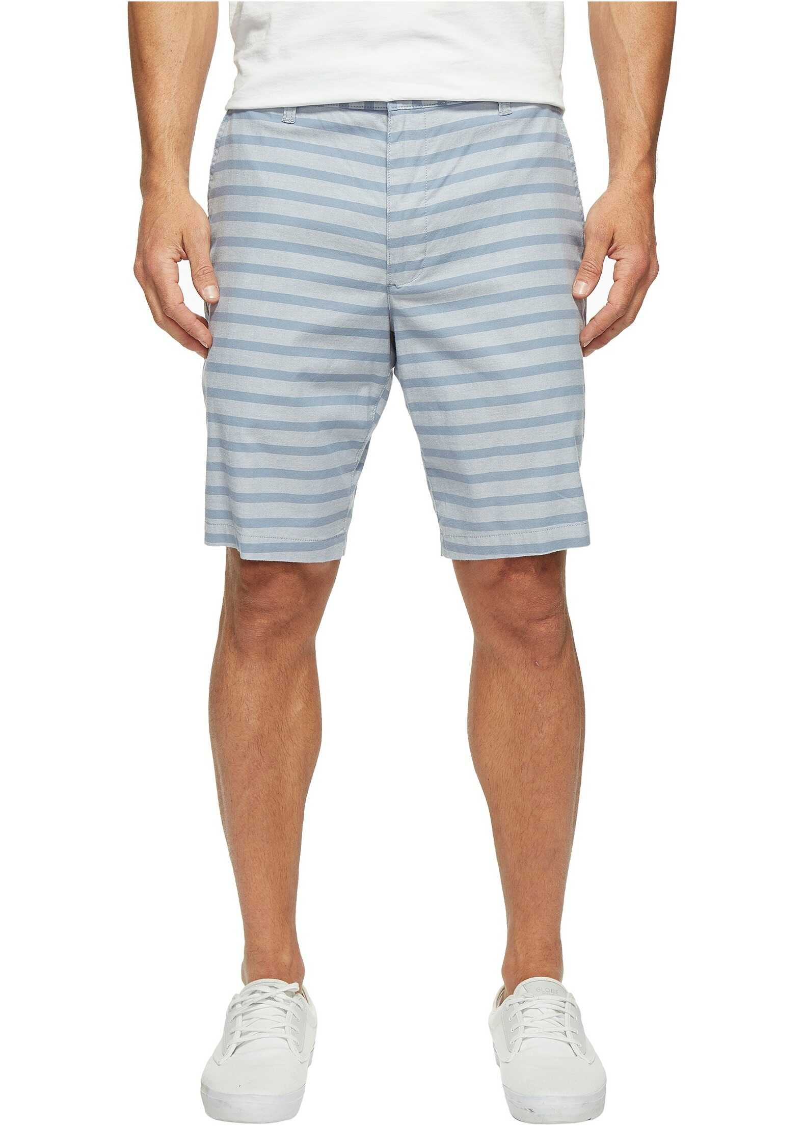 Dockers Perfect Short Classic Fit Flat Front Reyes Mok Blue Stretch