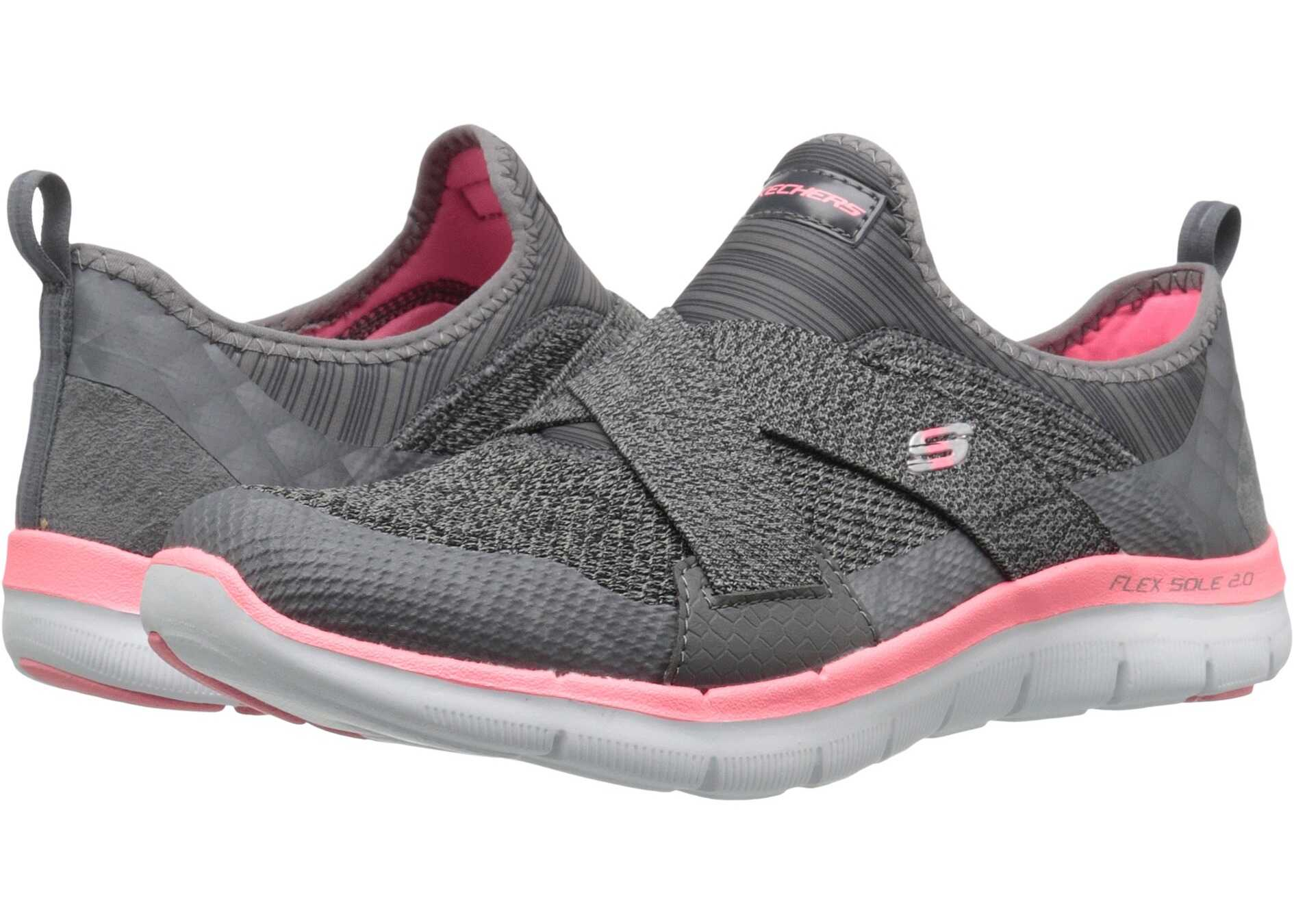 SKECHERS Flex Appeal 2.0 - New Image Charcoal/Coral