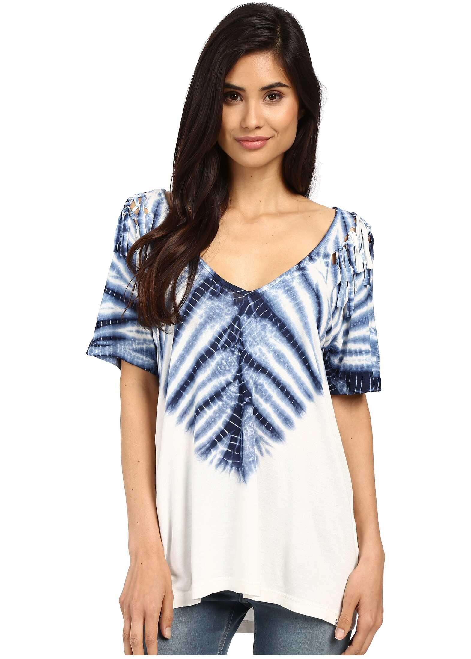 Tricou Femei Volcom Knot Happening Top White