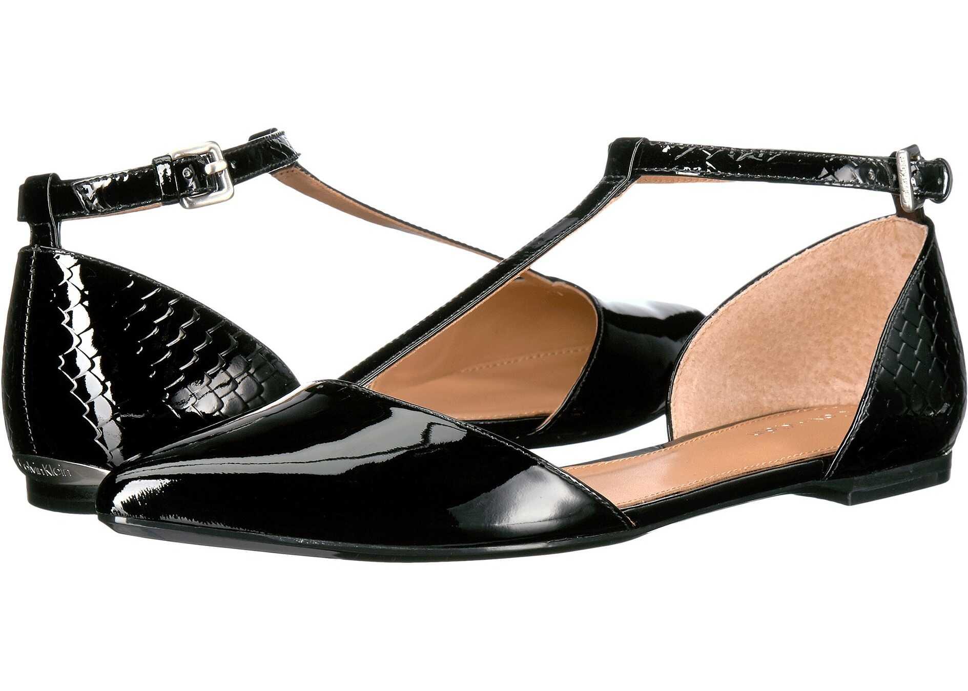 Calvin Klein Ghita Flat Black Patent