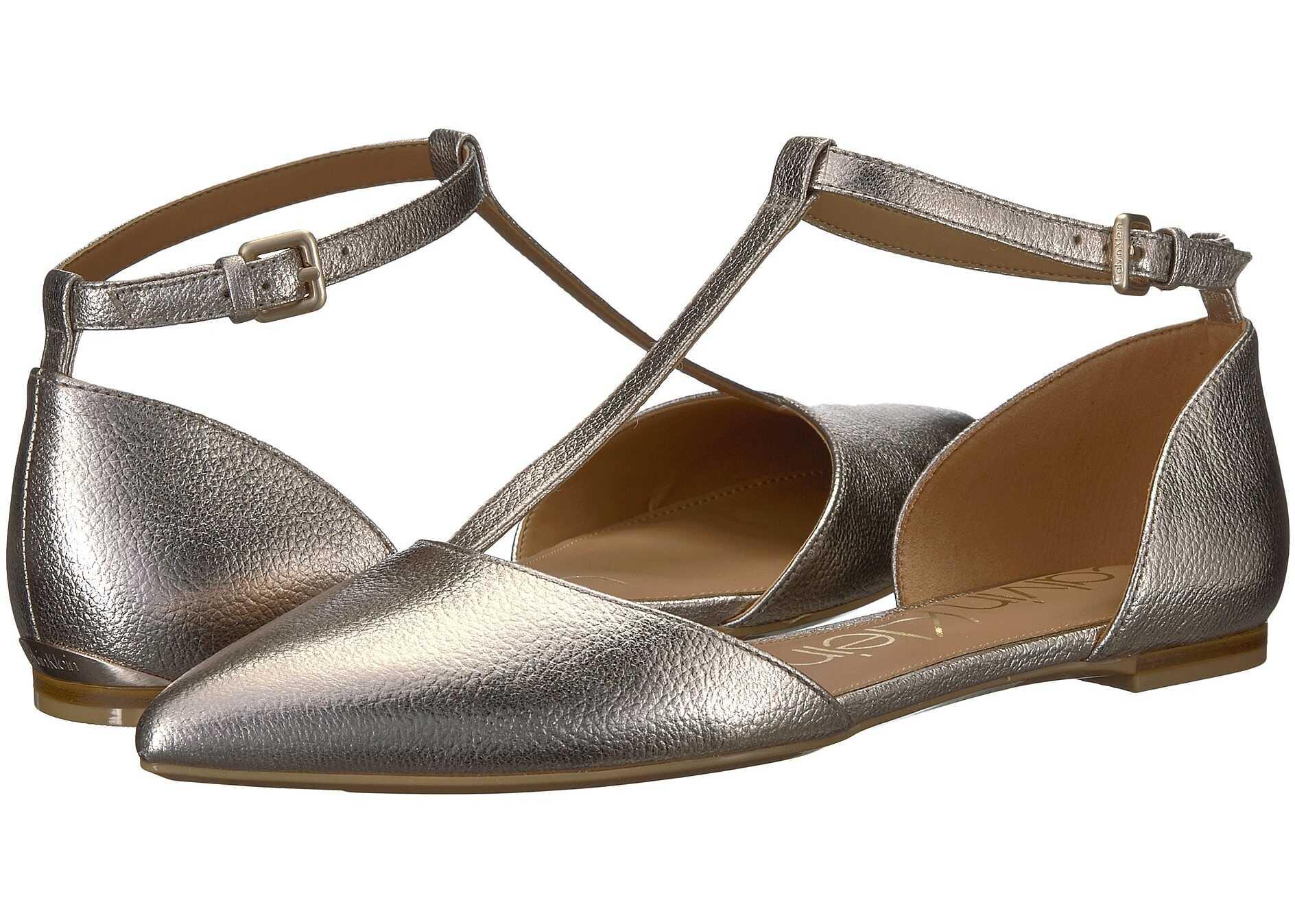 Calvin Klein Ghita Flat Soft Platinum