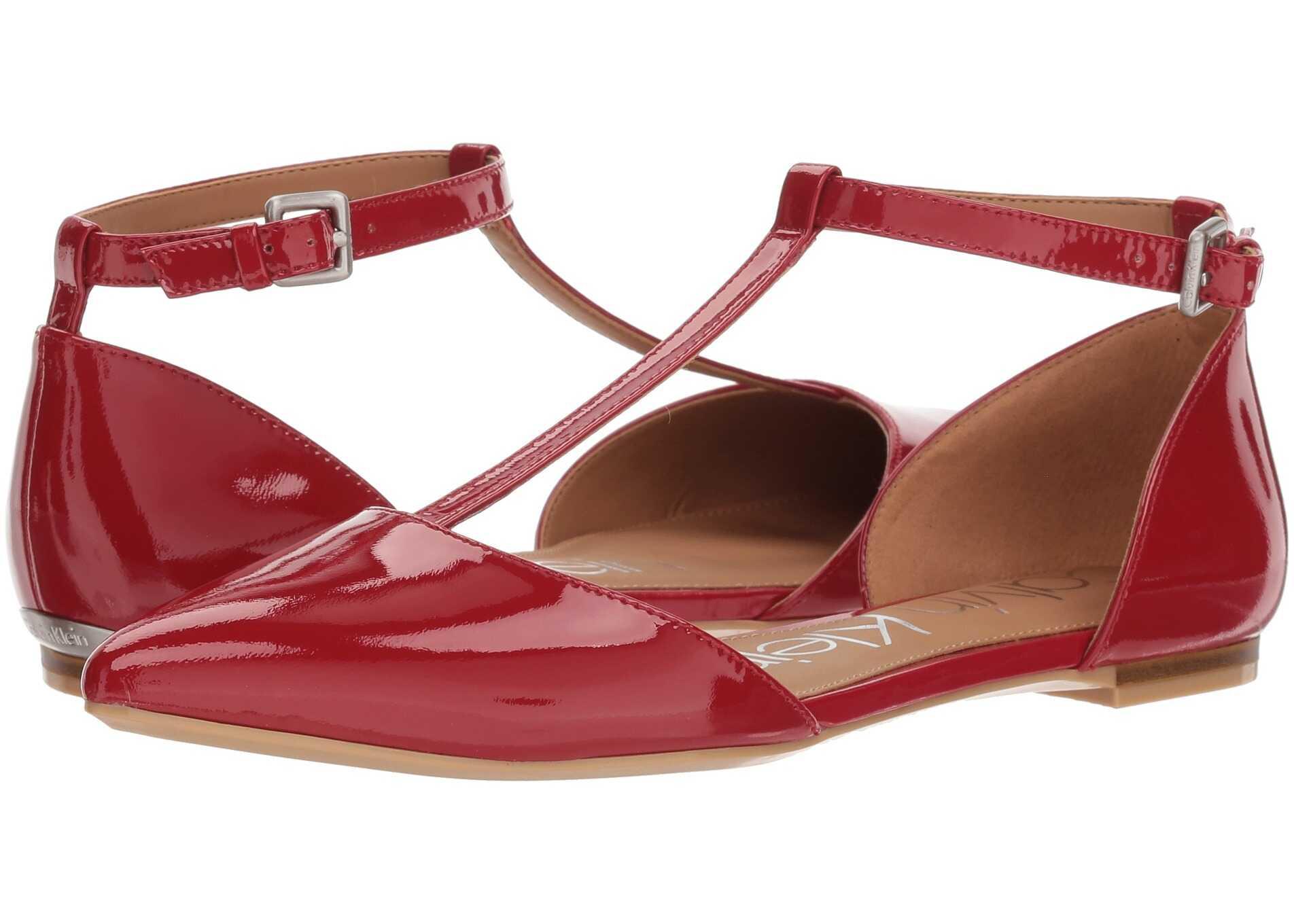 Calvin Klein Ghita Flat Crimson Red
