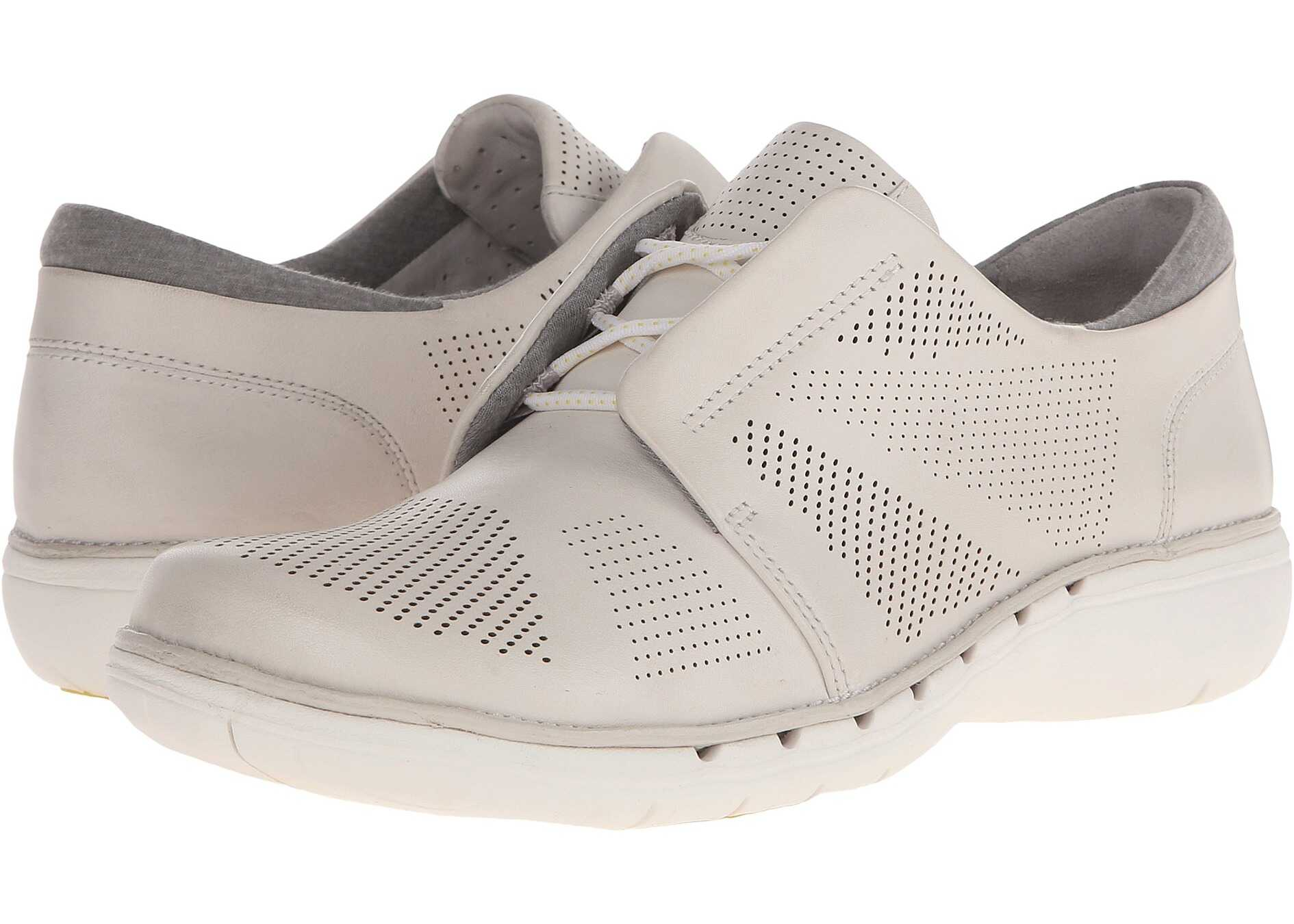 Pantofi Sport Femei Clarks Un Voltra White Leather