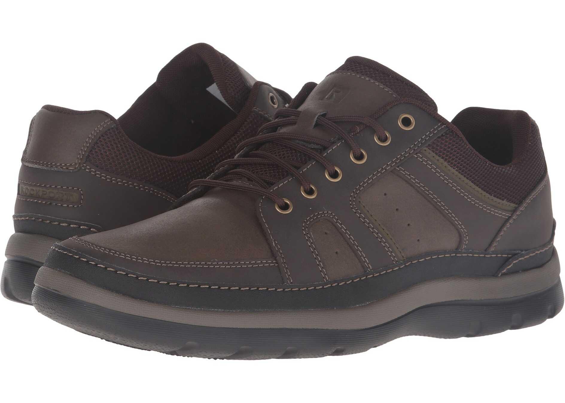 Rockport Get Your Kicks Mudguard Dark Brown Leather
