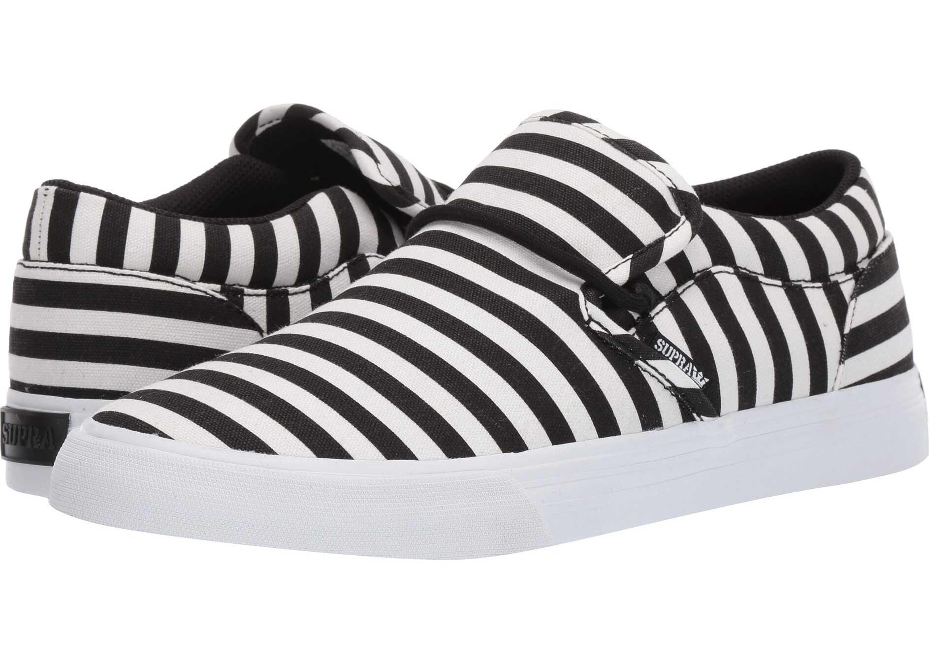 Supra Cuba Black/White Stripe