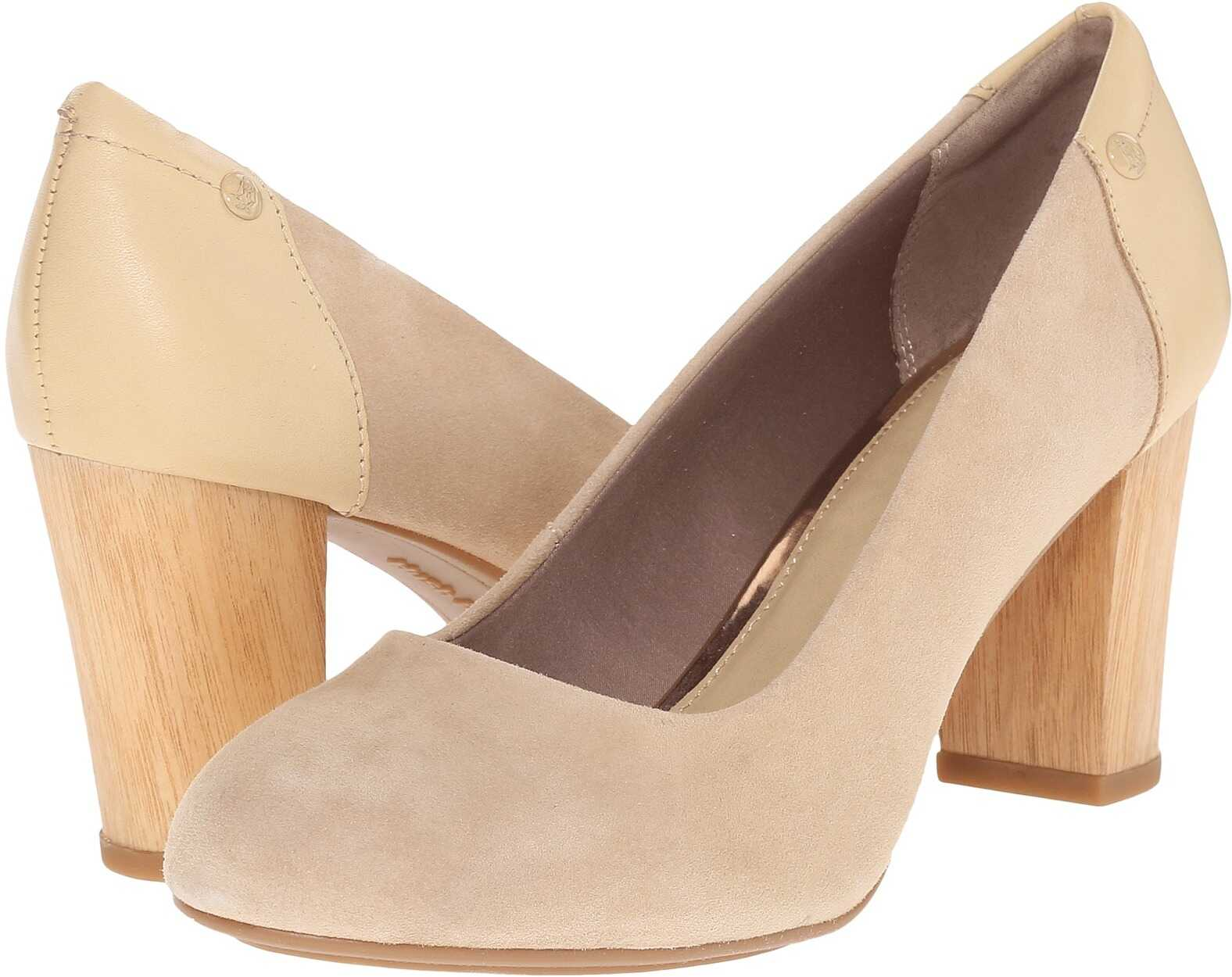 Hush Puppies Sisany Pump Light Tan Suede