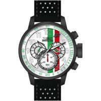 Ceasuri Fashion S1 Rally Chronograph White Dial Black and White Leather Mens Watch 19294* Barbati