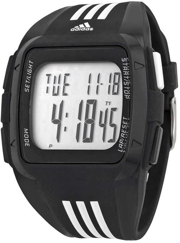 Adidas Duramo Xl Digital Dial Black Rubber Mens Watch Adp6089* N/a