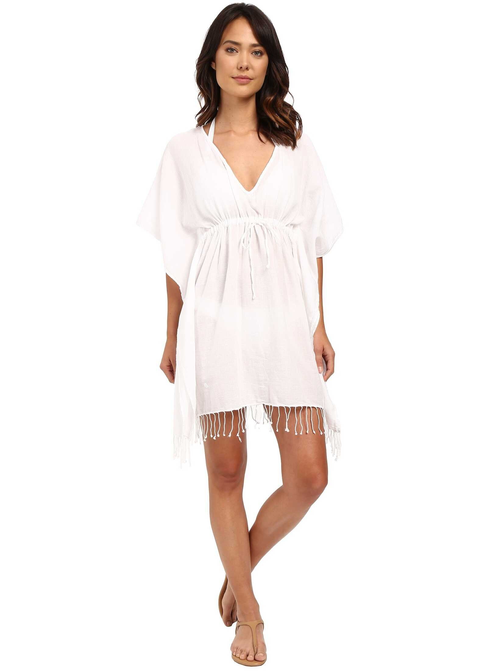 Ralph Lauren Fringed Cotton Tunic Cover-Up White