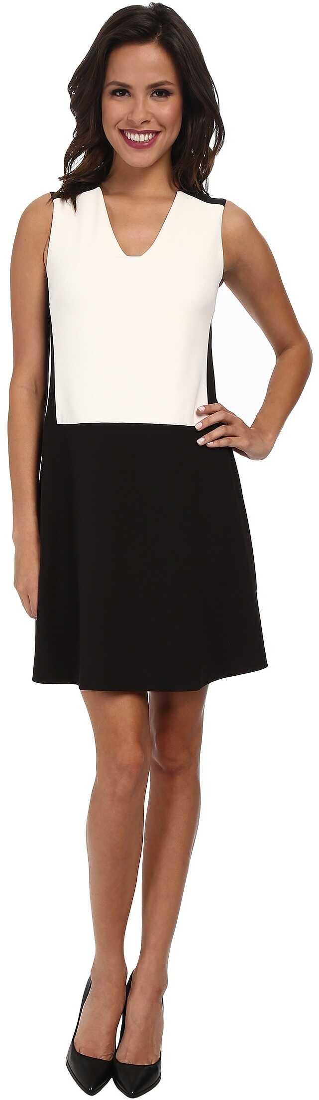 NYDJ Sabrina Shift Dress* Black/Optic White