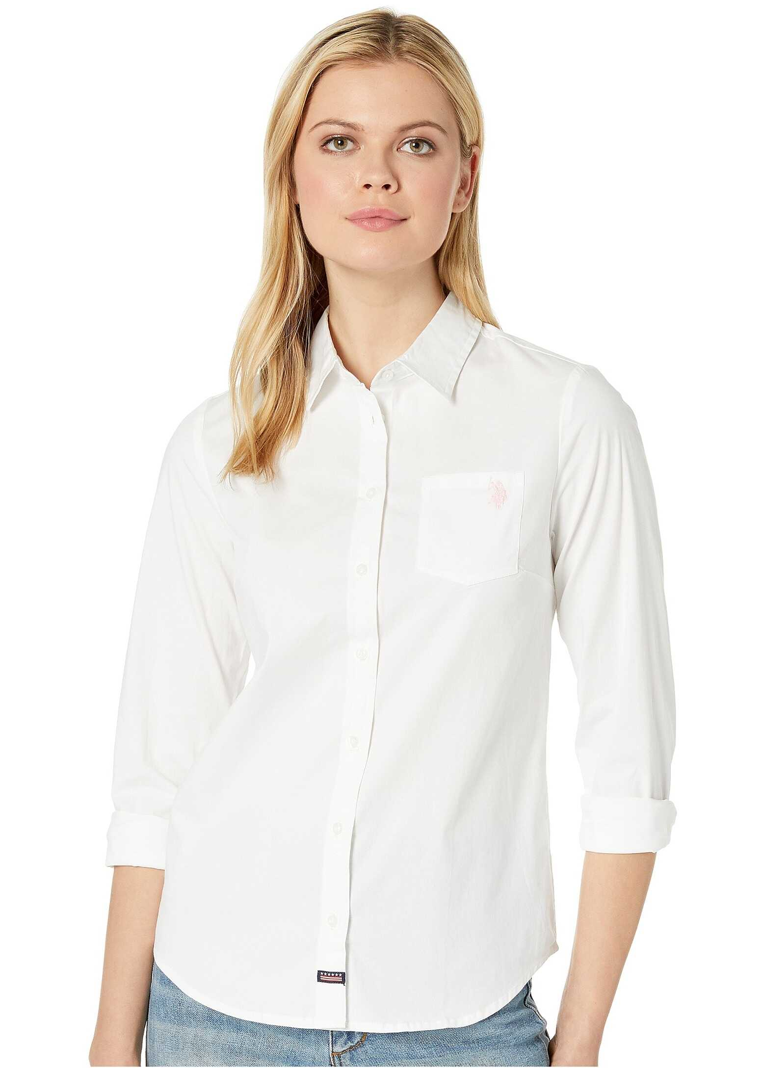 U.S. POLO ASSN. Woven Pocket Shirt Optic White