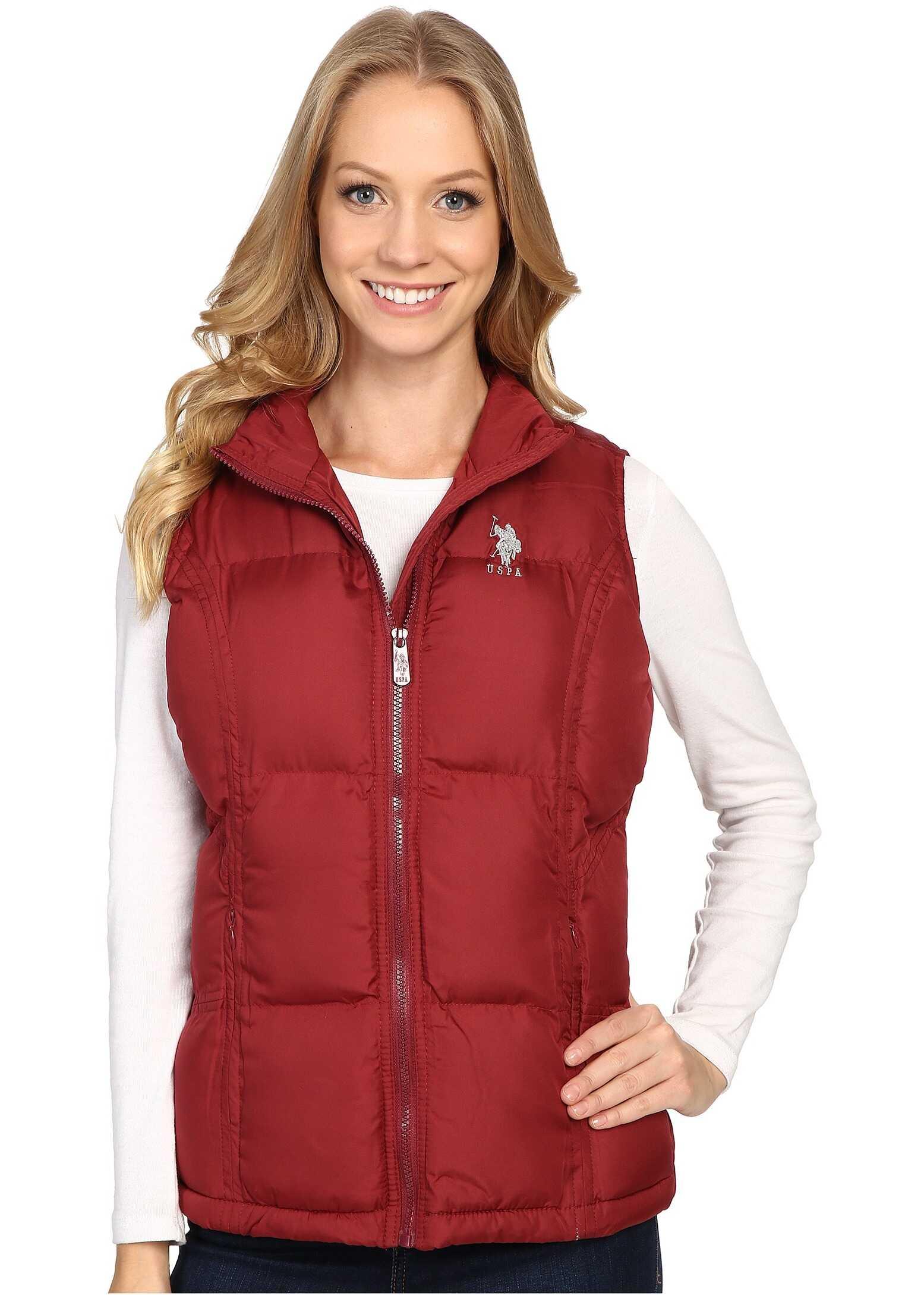 U.S. POLO ASSN. Classic Puffer Vest Rumba Red