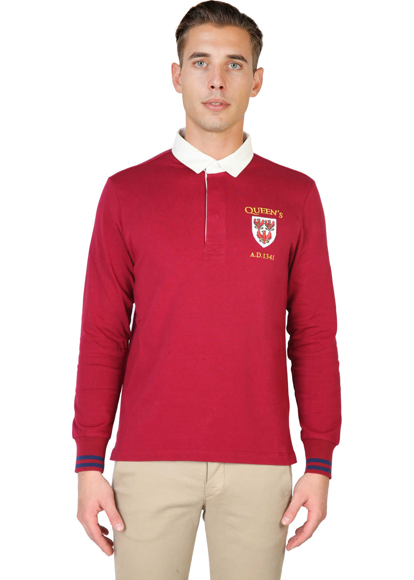 Oxford University Queens-Polo-Ml RED image0