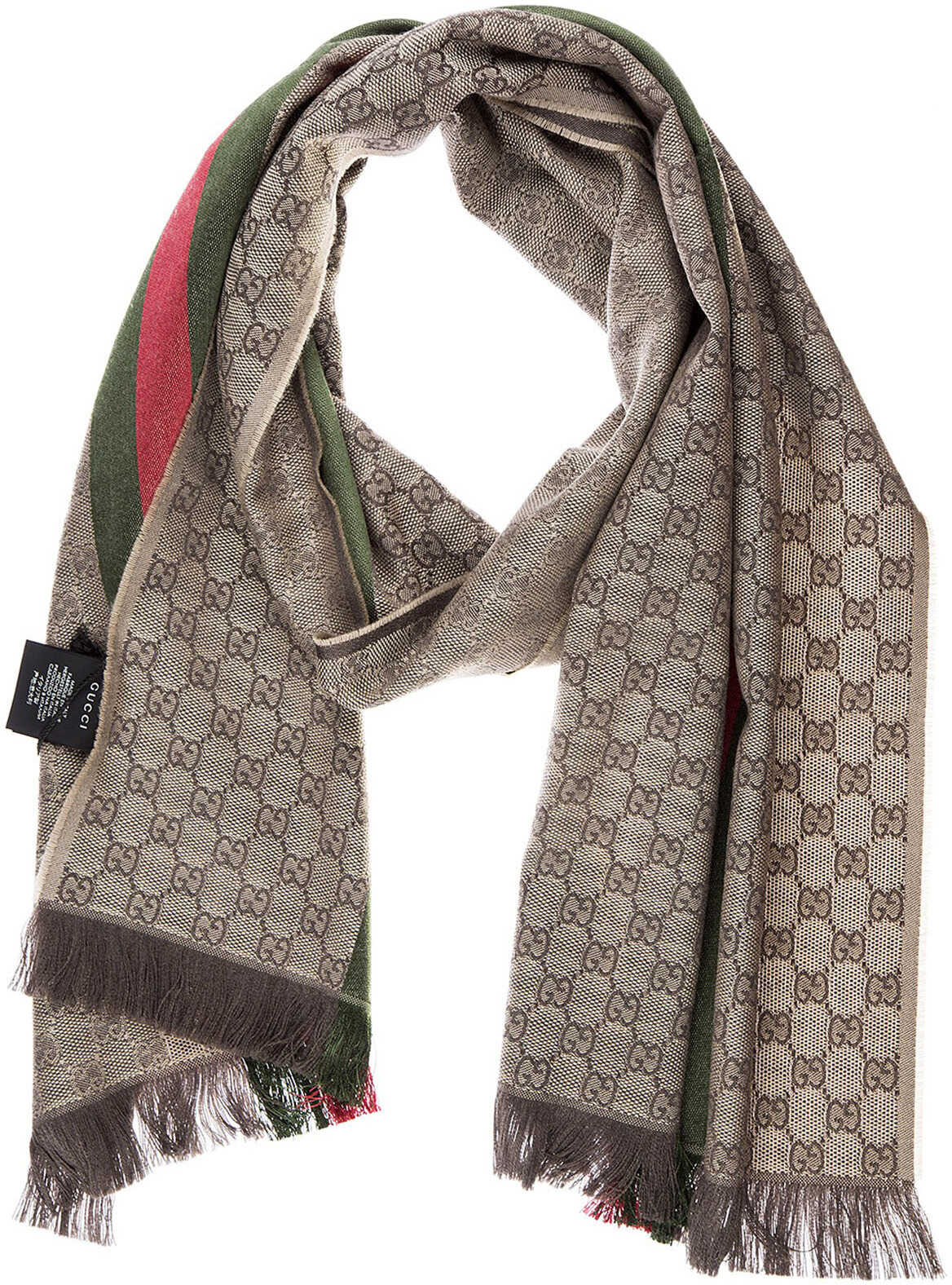 Gucci Scarf Jacquard Brown