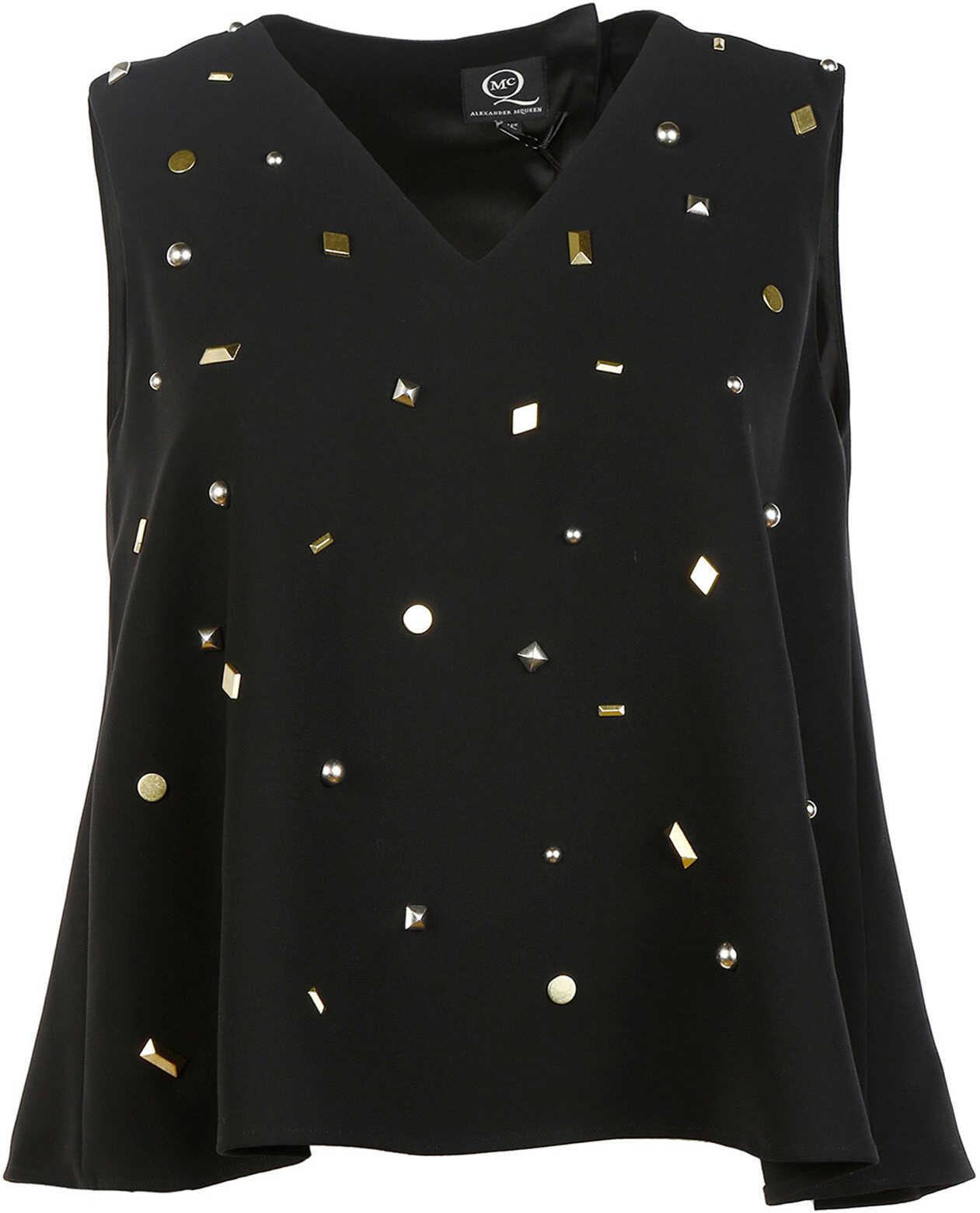 Alexander McQueen Sleeveless Studded Black