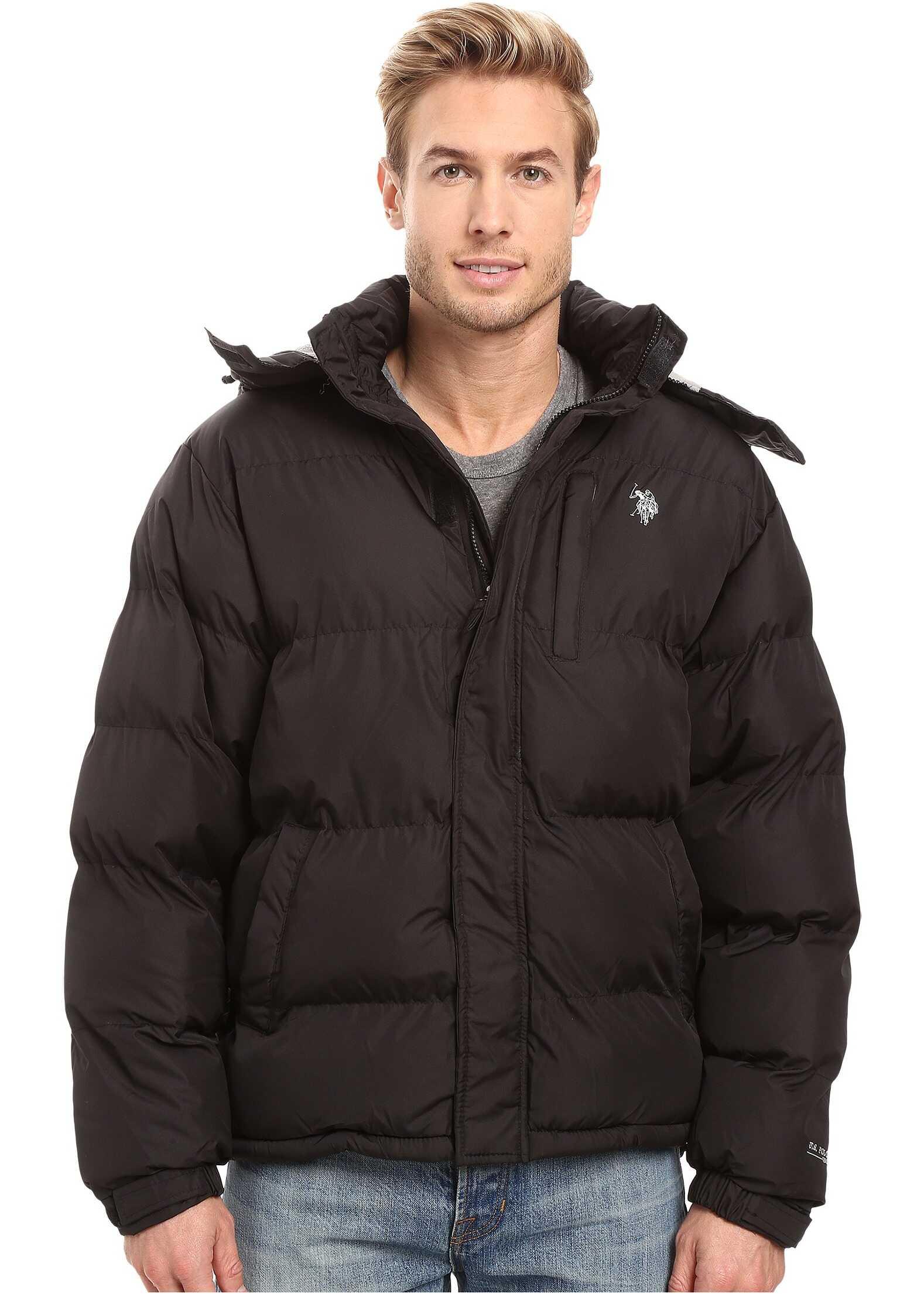 U.S. POLO ASSN. Classic Short Bubble Jacket Black