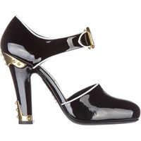 Pantofi cu Toc Vernice Bicolor Femei