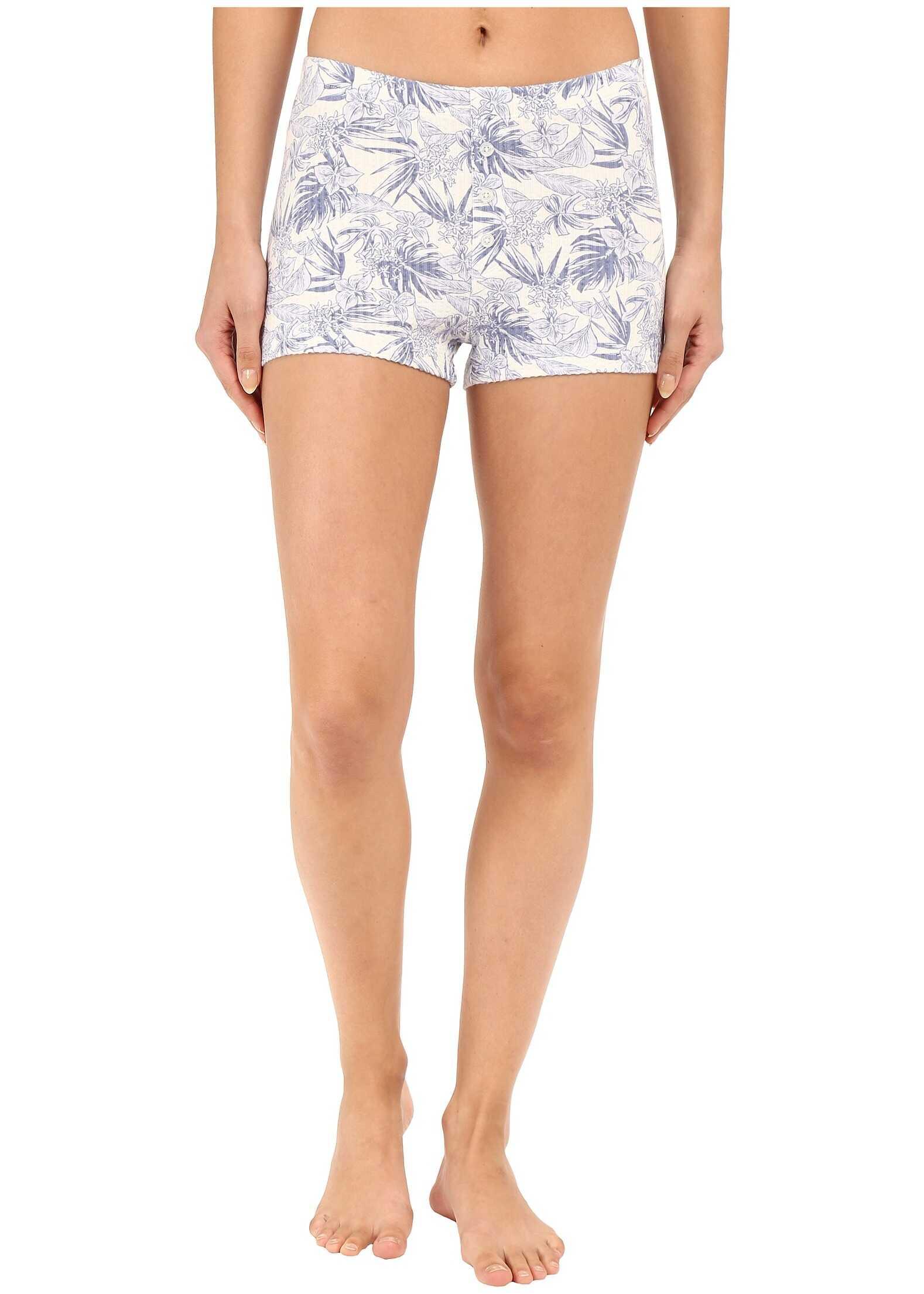 UGG Rowena Island Floral Shorts Stonewash