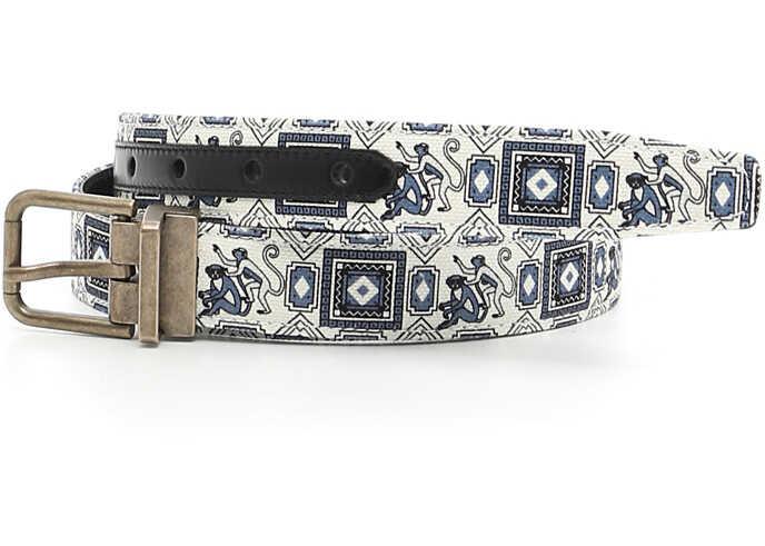 Dolce & Gabbana Canvas Belt ST.SCIMMIE F.DO PANNA